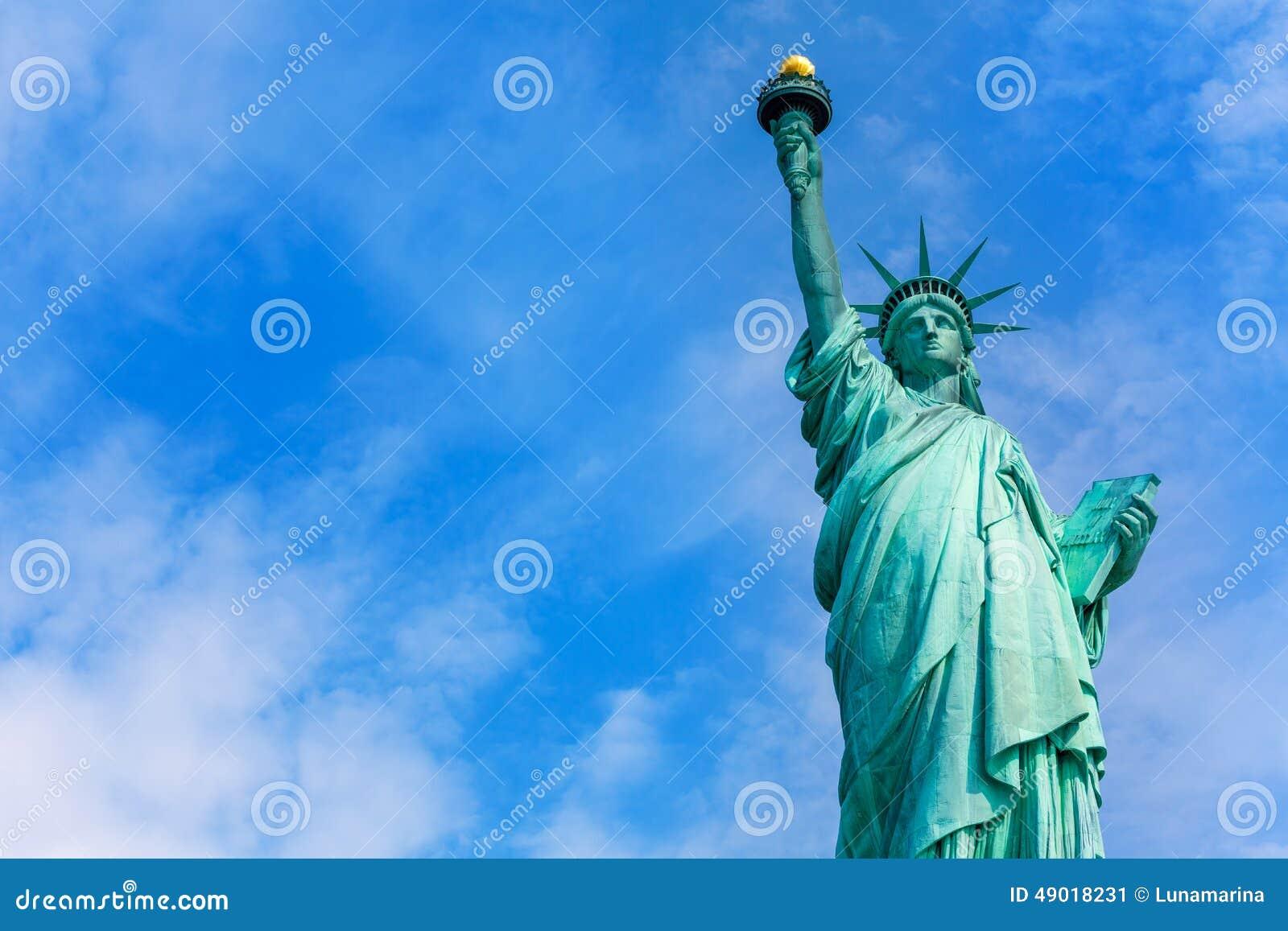 Liberty Statue New York American-Symbol USA Stockbild - Bild von ...