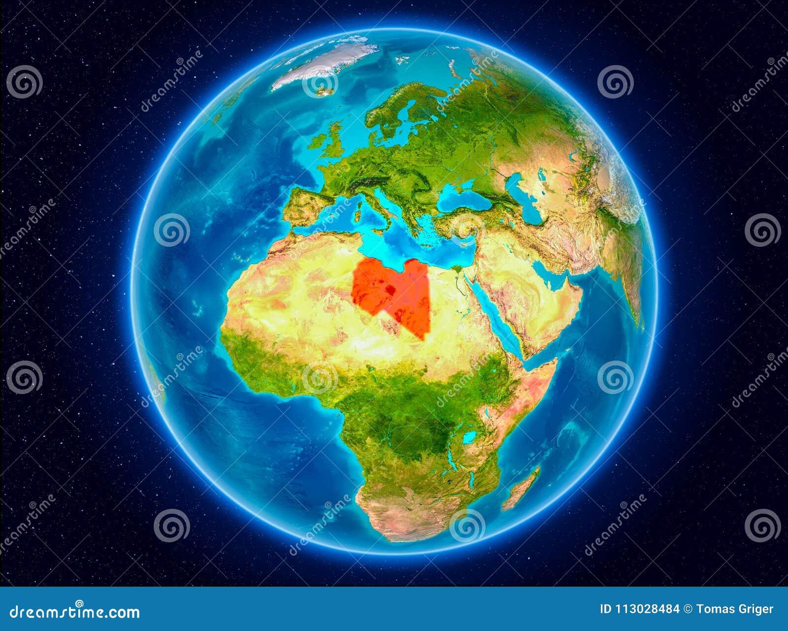 Libia en la tierra