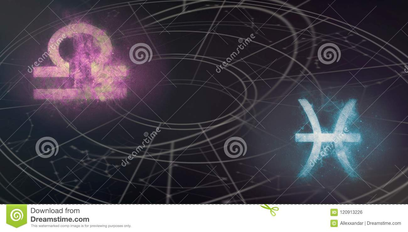 Libra And Pisces Horoscope Signs Compatibility  Night Sky
