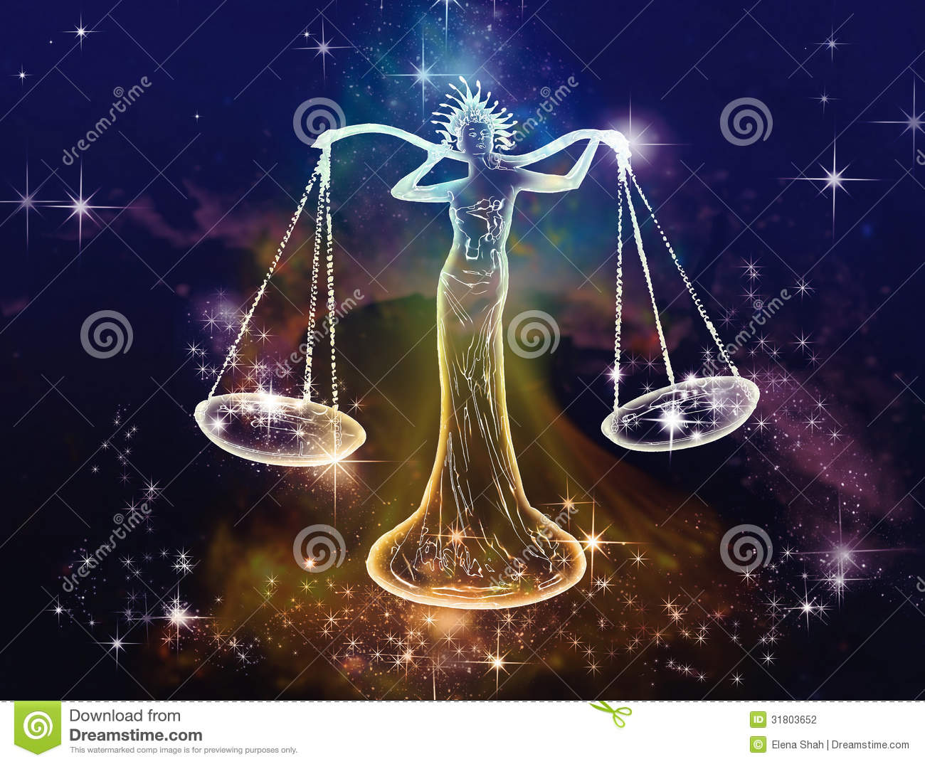 Libra Scales Stock Illustration Of Quaint