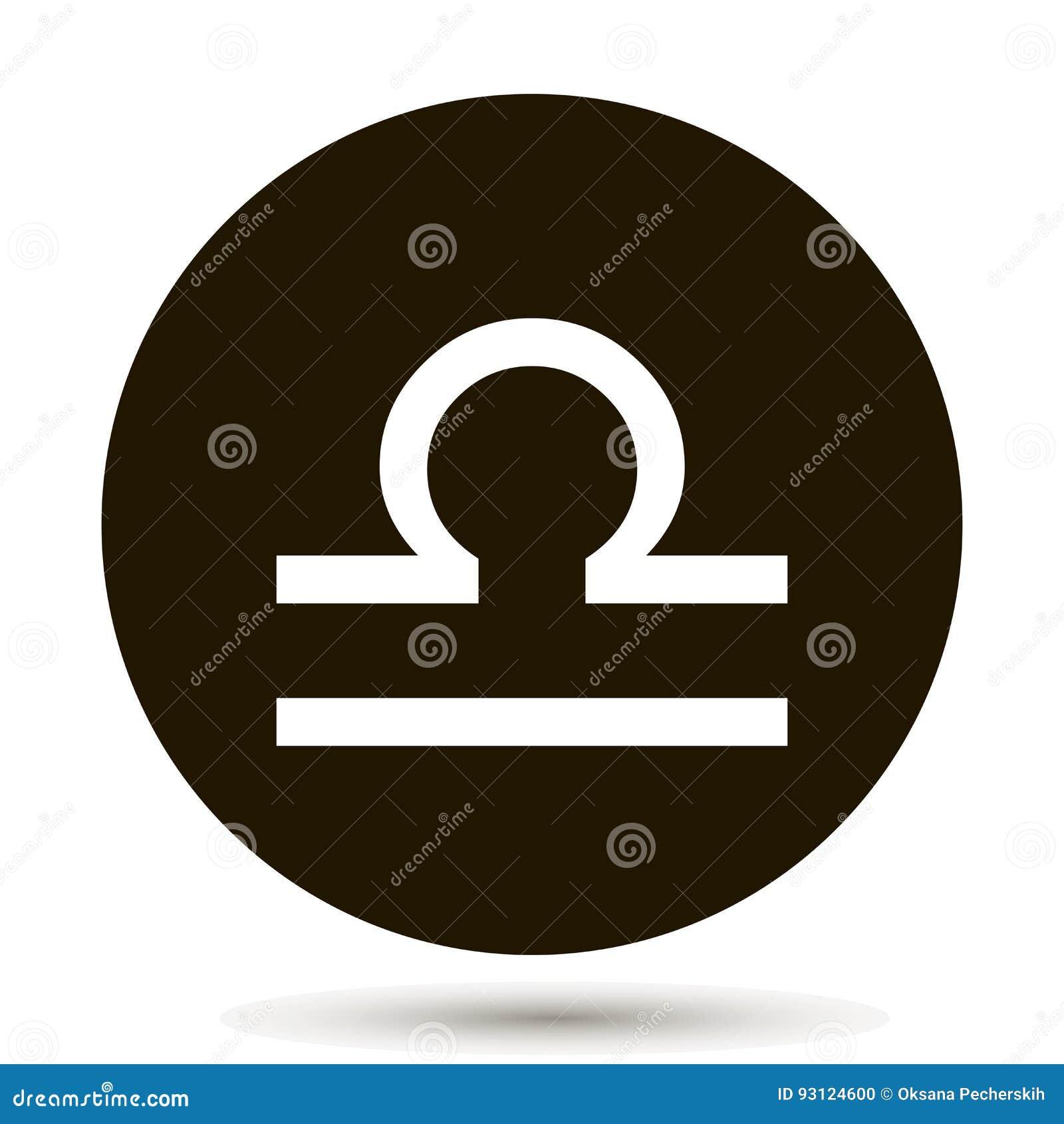 Libra Zodiac Sign Astrological Symbol Icon In Circle Stock Vector