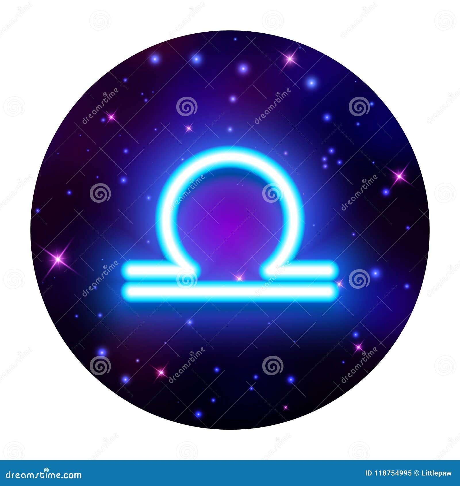 Libra Zodiac Sign Horoscope Symbol Vector Illustration Stock