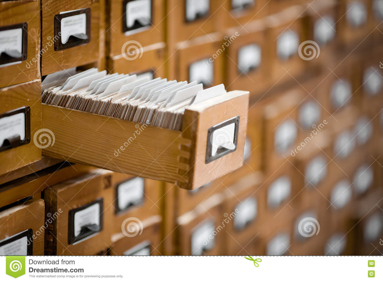 Library Or Archive Reference Card Catalog Database