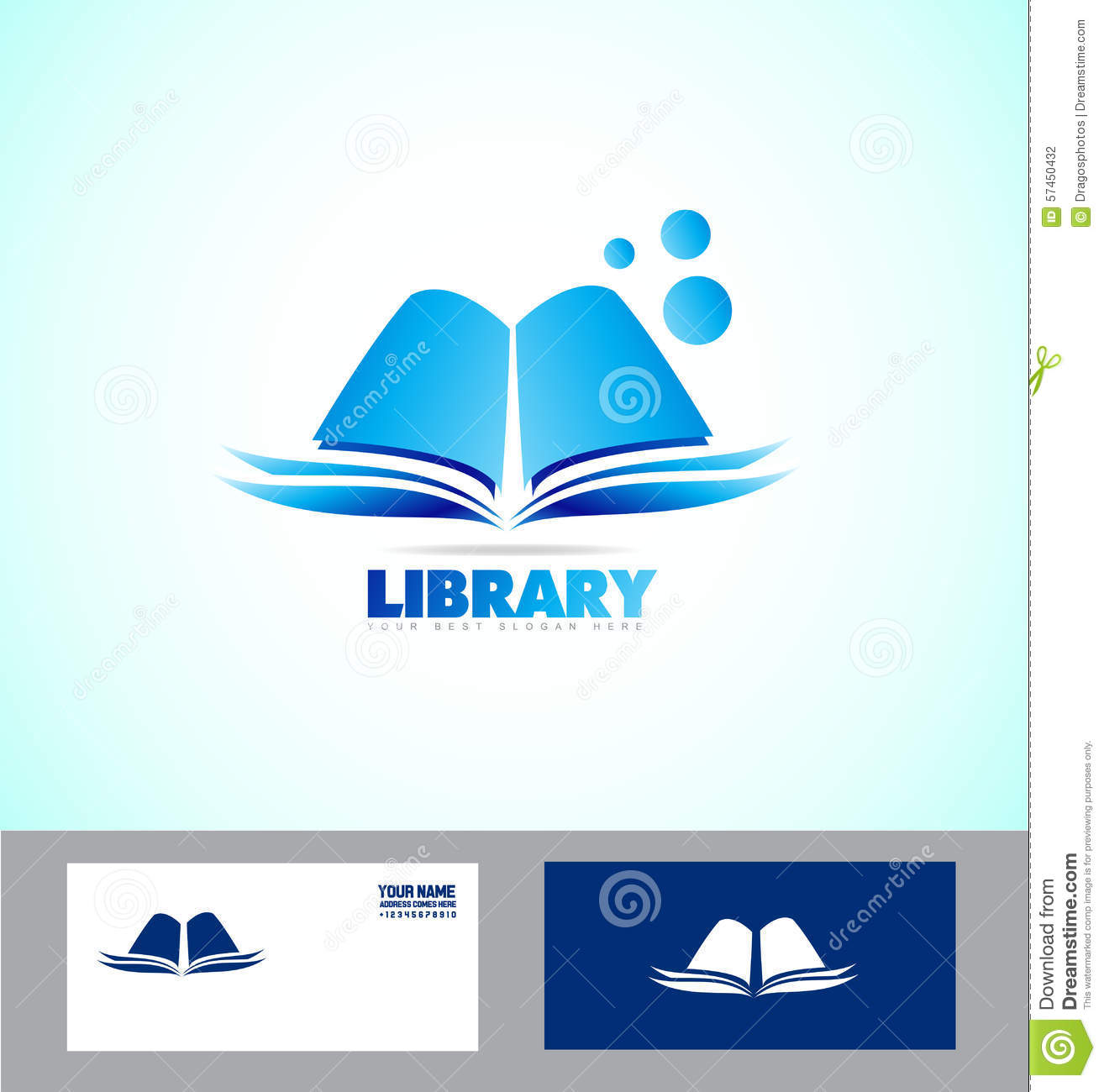 Library Book Logo Icon Stock Vector Illustration Of