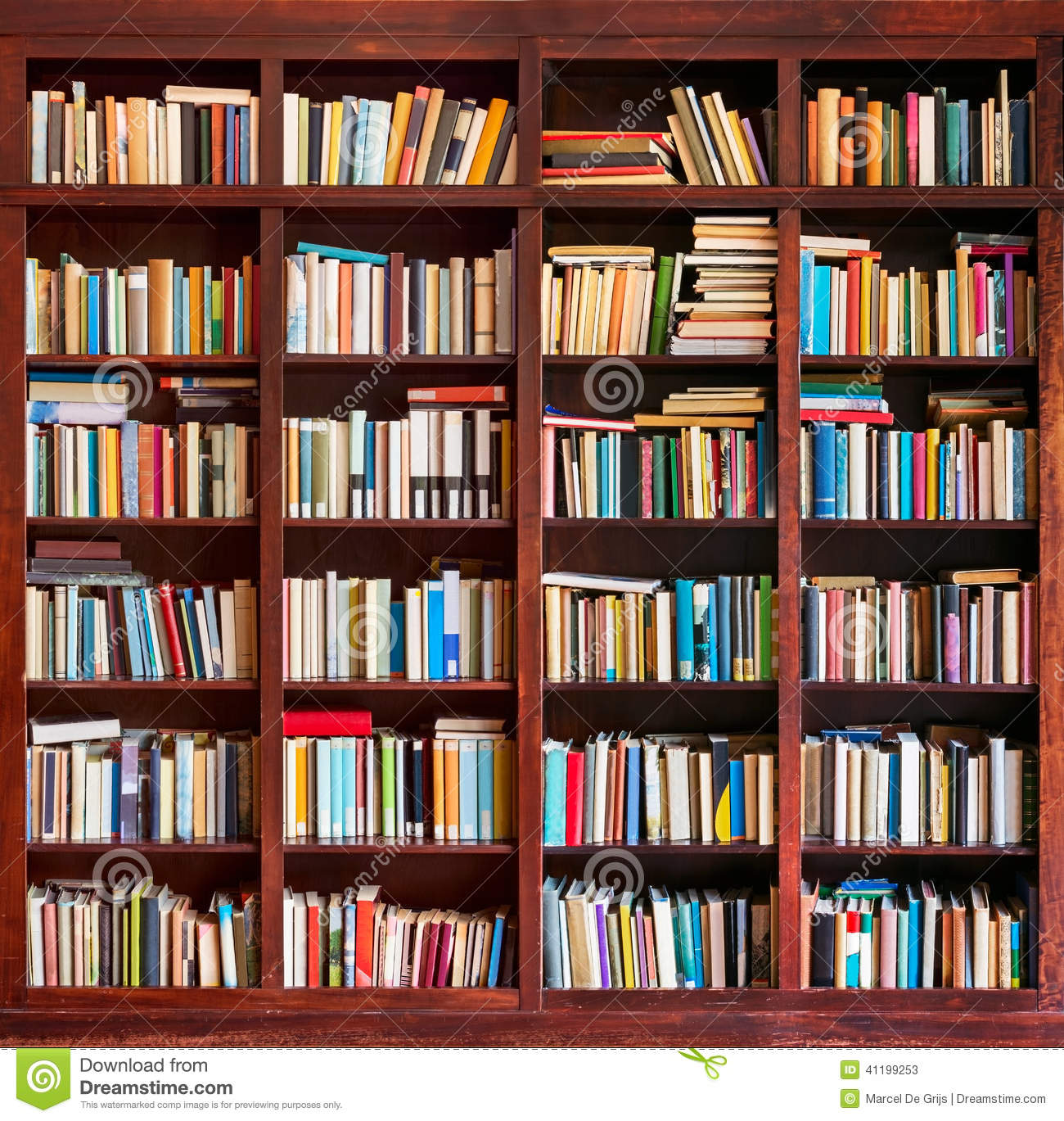 Library Books Background Stock Photo - Image: 41199253