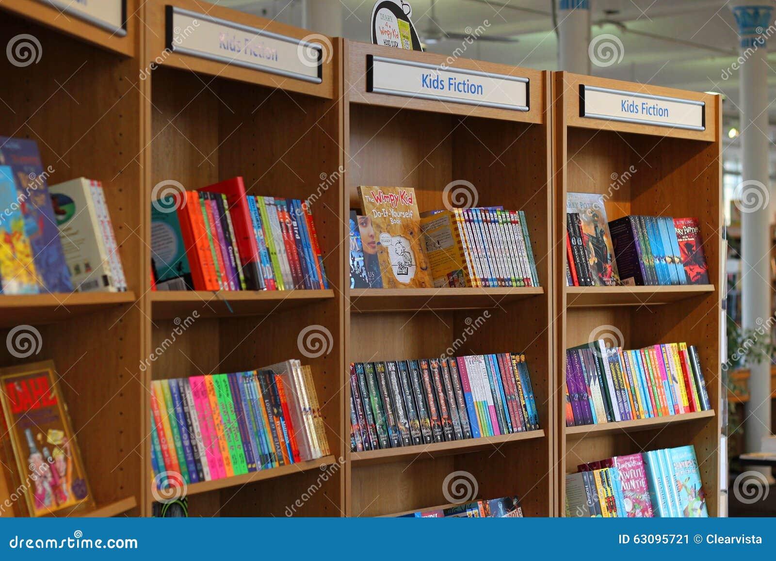 Prime Library Books On Shelves Kids Fiction Editorial Photo Download Free Architecture Designs Intelgarnamadebymaigaardcom