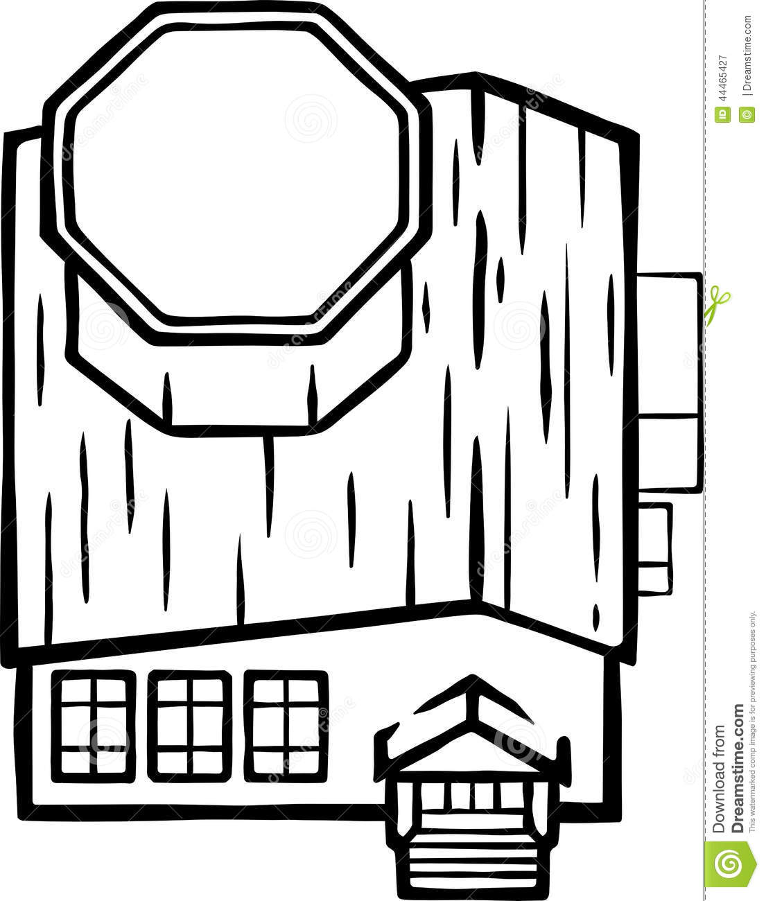 Line Drawing Library : Library building illustration organic lines stock