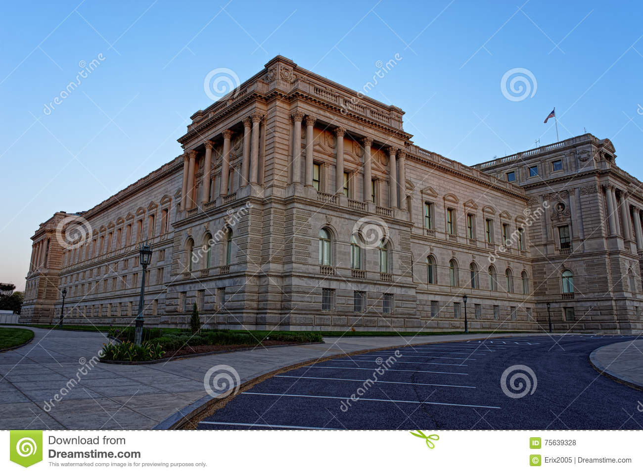 Library Of Congress Building In Washington USA Stock Photo