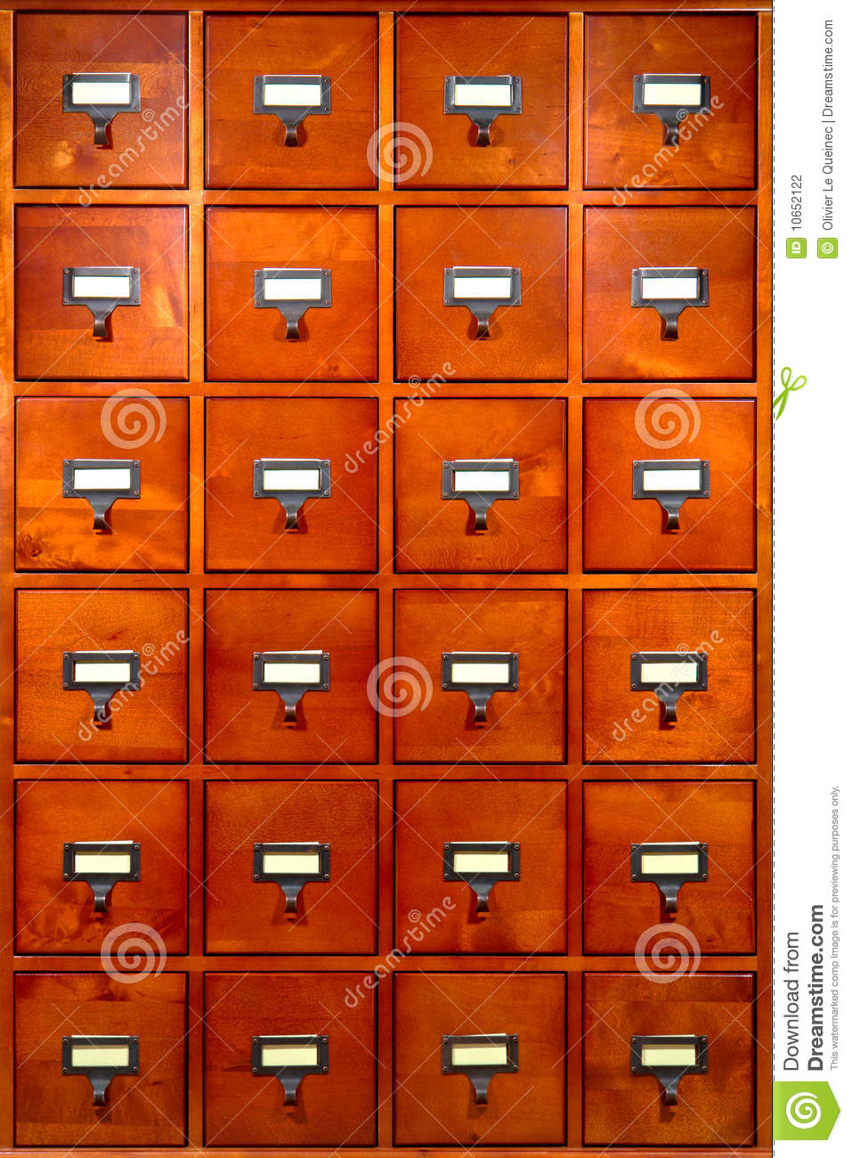 library file cabinet with old wood card drawers stock photo image rh dreamstime com