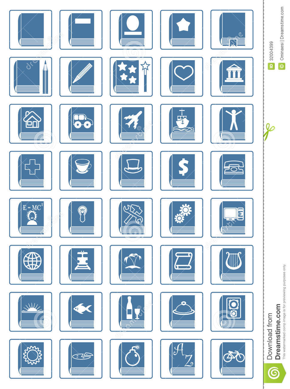 Download Library icon set stock vector. Illustration of reading ...