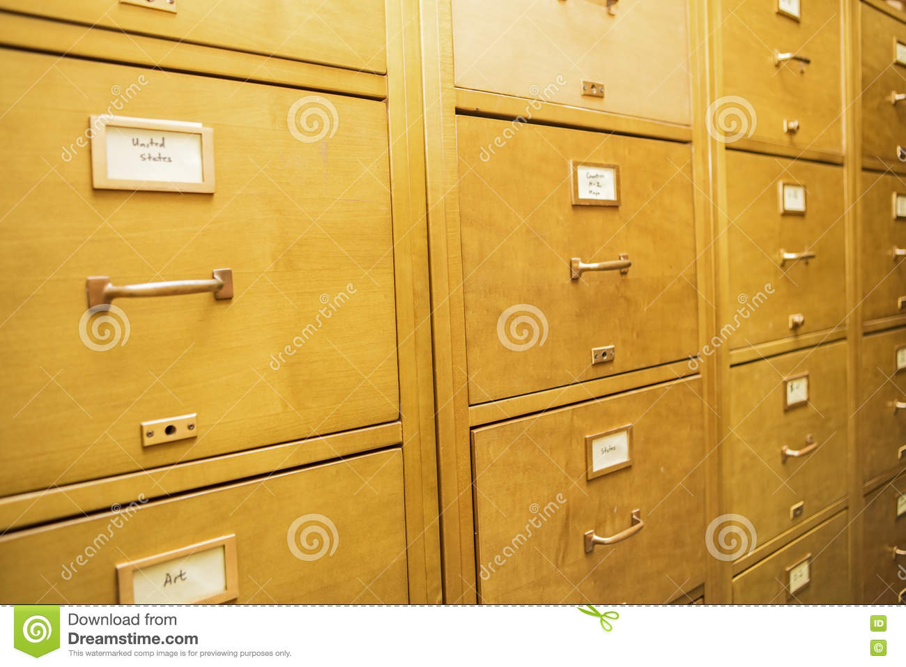 School Wooden Cabinets ~ Library index card cabinets wooden education filing school