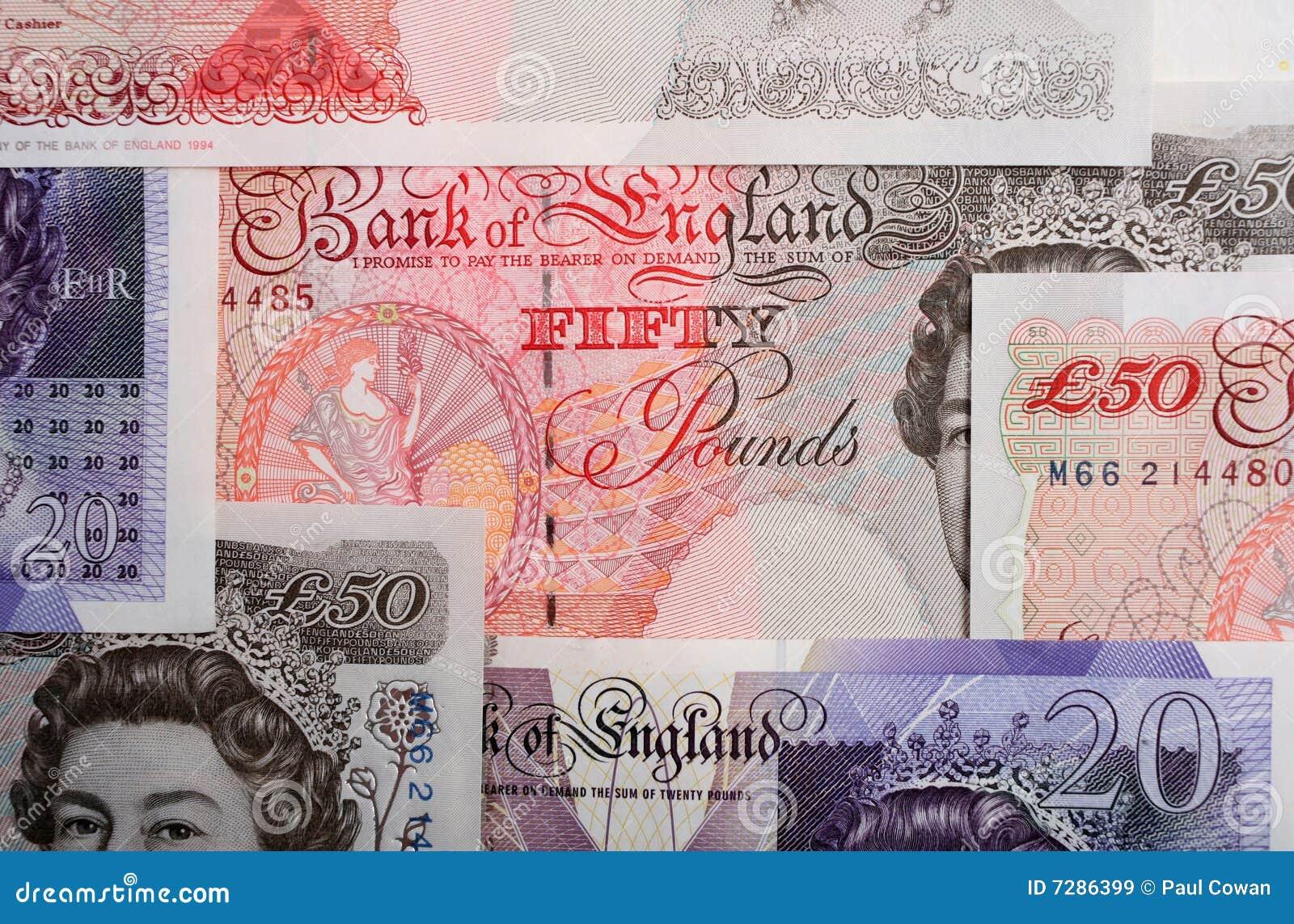 Libras británicas horizontales