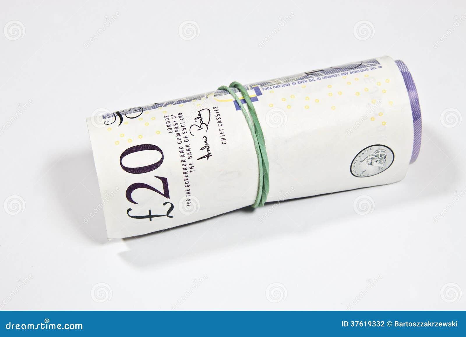 Libras Esterlinas Inglesas Do Dinheiro Foto de Stock