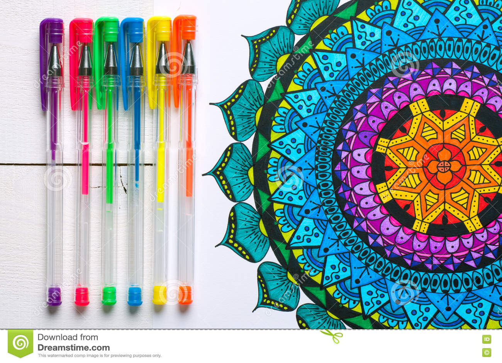 Libri da colorare adulti, concetto di consapevolezza