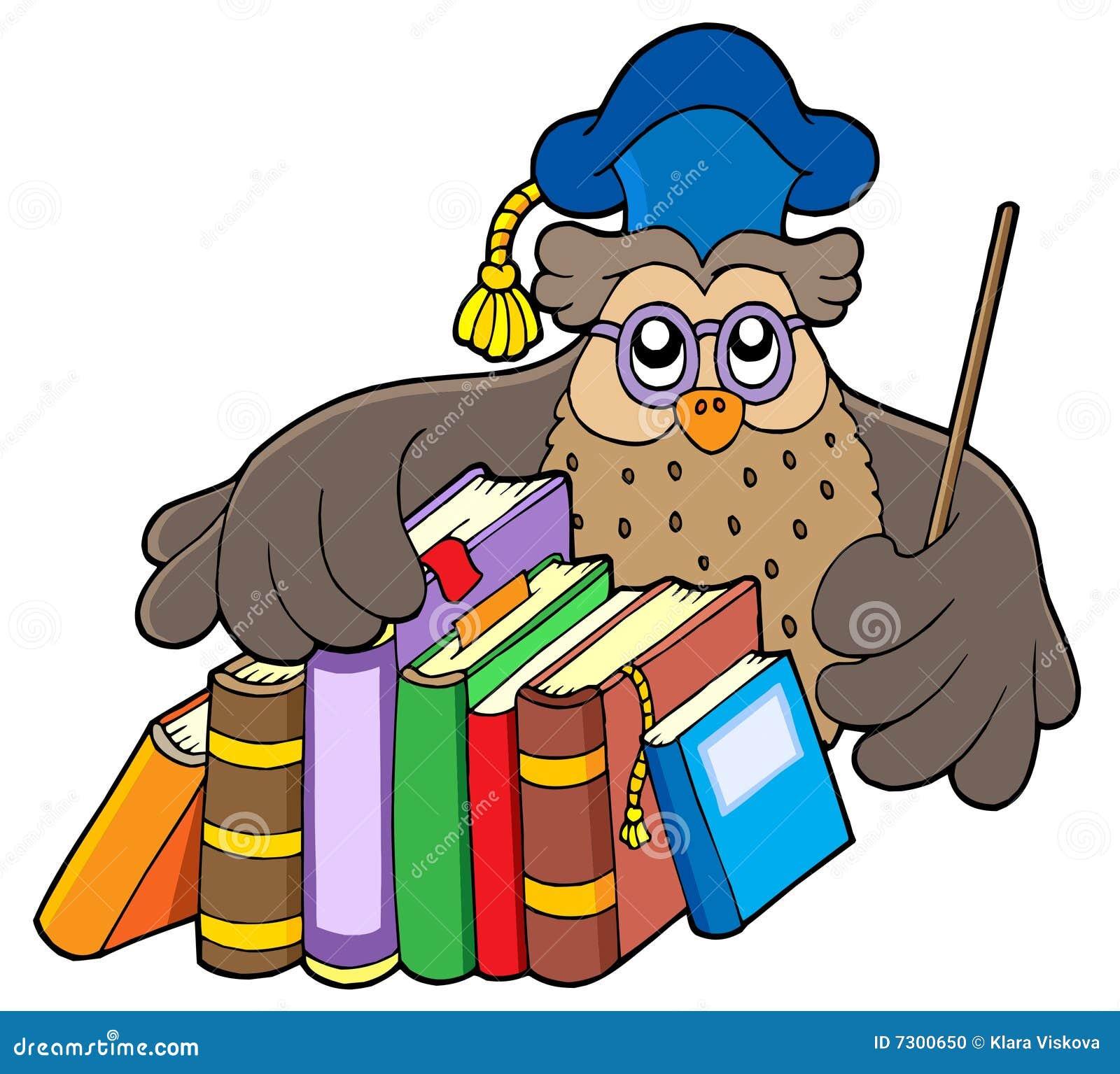Libri della holding dell insegnante del gufo