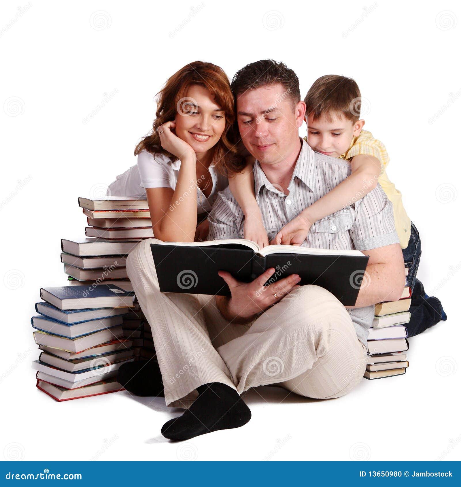Libri di lettura felici della famiglia