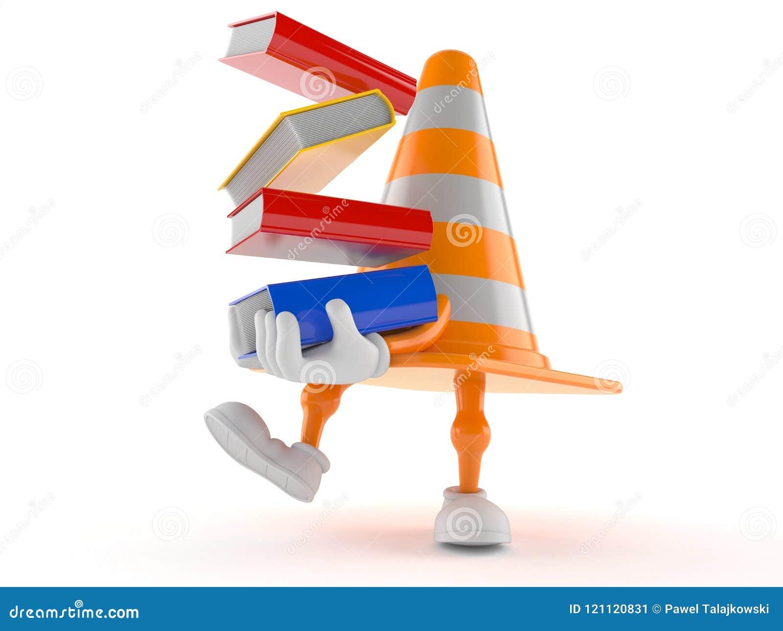 Libri di trasporto del carattere del cono di traffico
