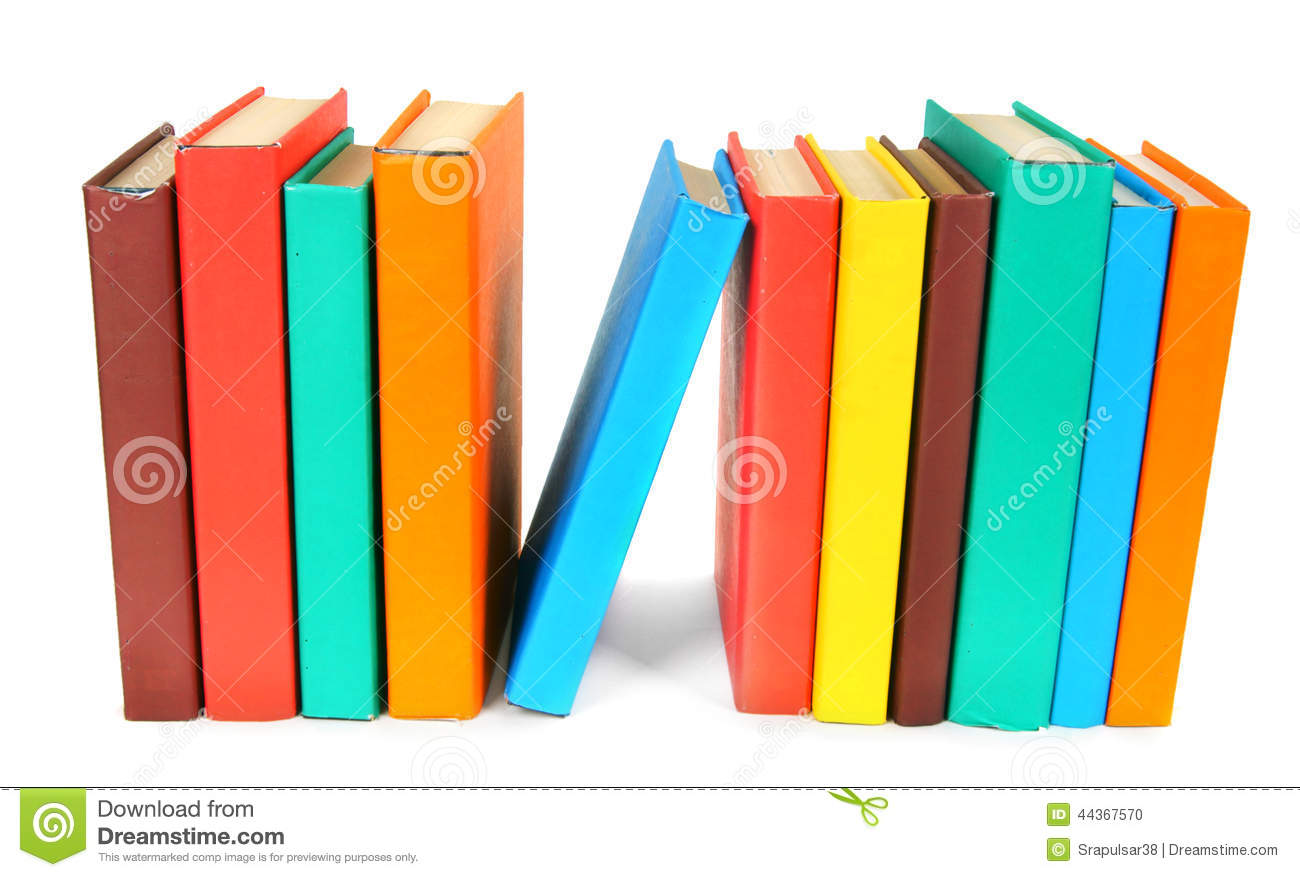 Libri Multi-coloured Su fondo bianco
