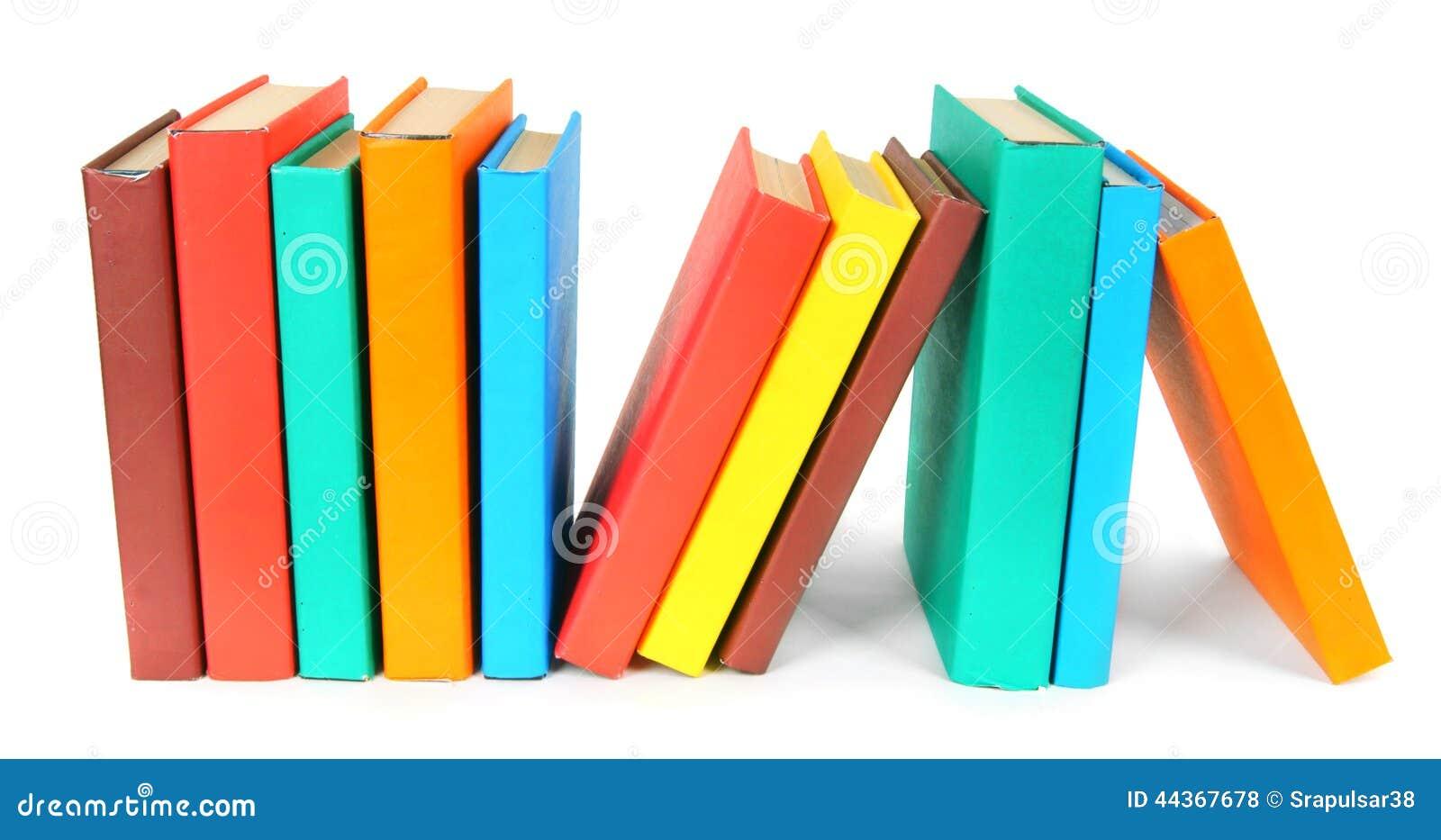 Libri Multi-coloured Su fondo bianco