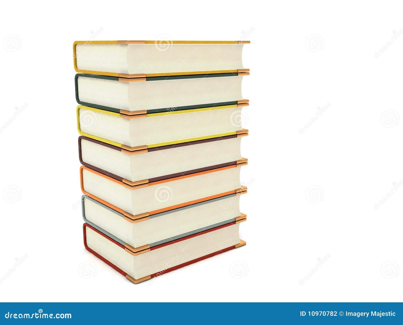 Libri tridimensionali di pileup illustrazione di stock for Immagini tridimensionali gratis