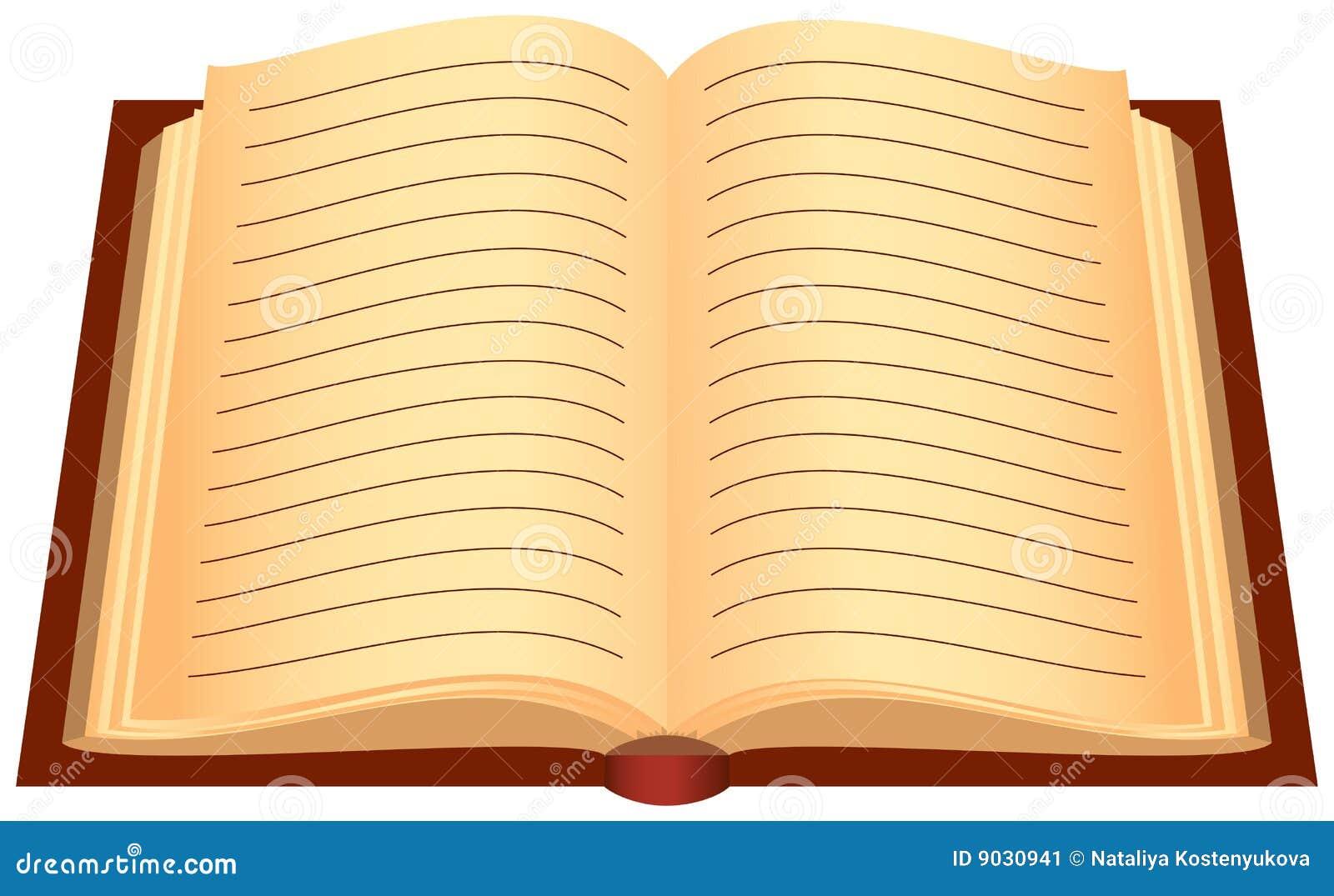 Libro abierto ilustraci n del vector ilustraci n de for Foto di un libro