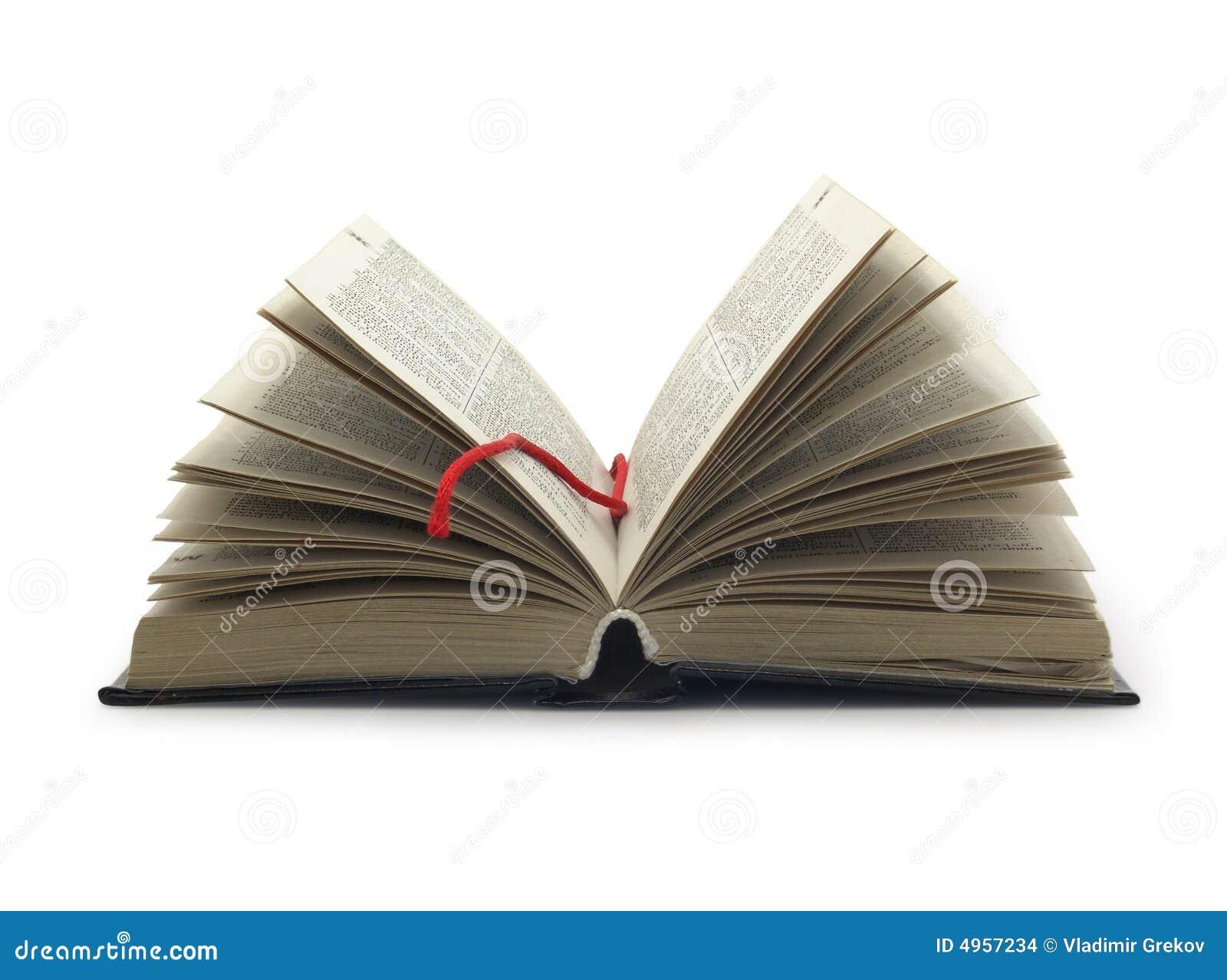 Libro abierto con la dirección de la Internet roja
