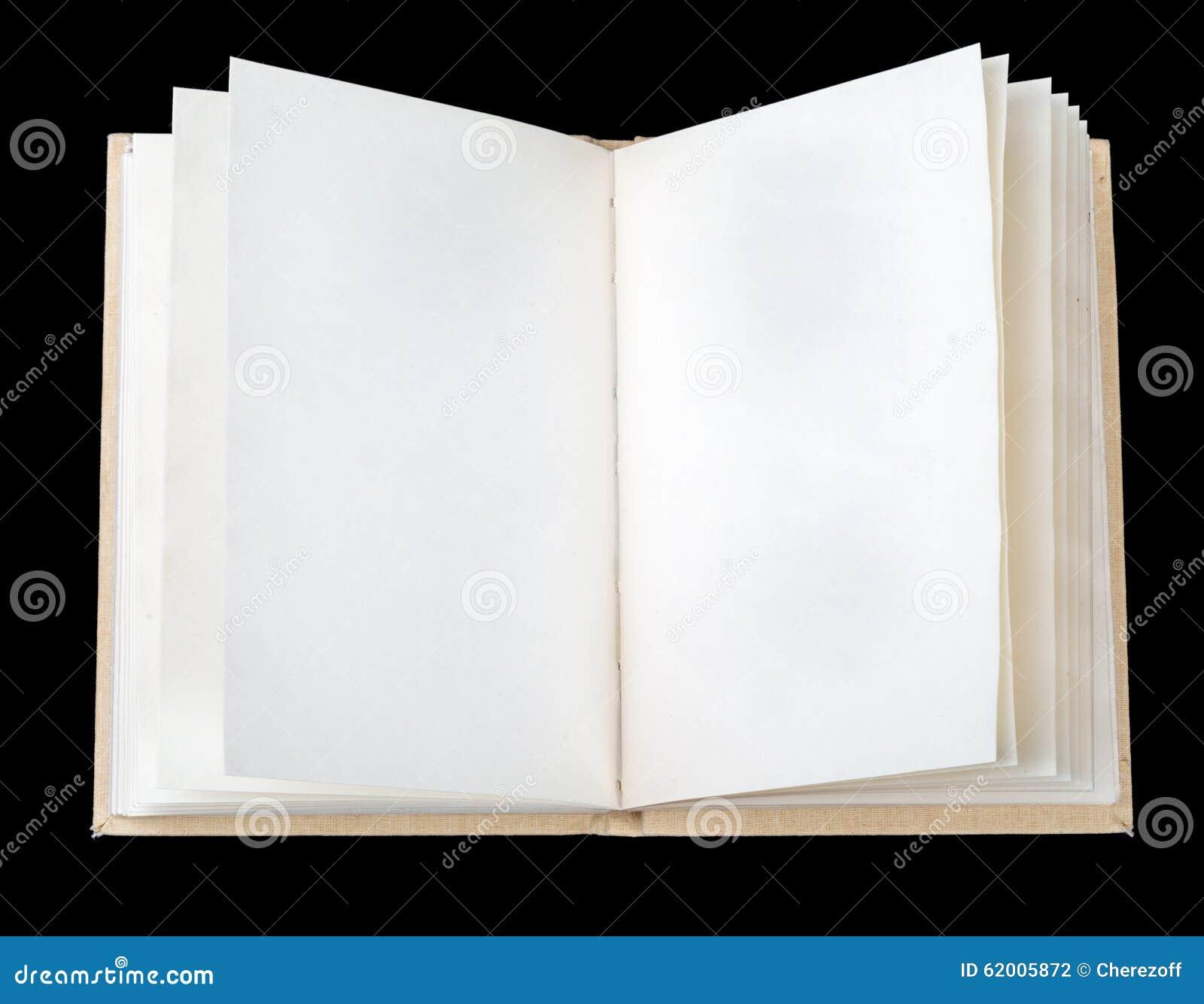 Libro aperto con i fogli bianchi fotografia stock for Foto di un libro