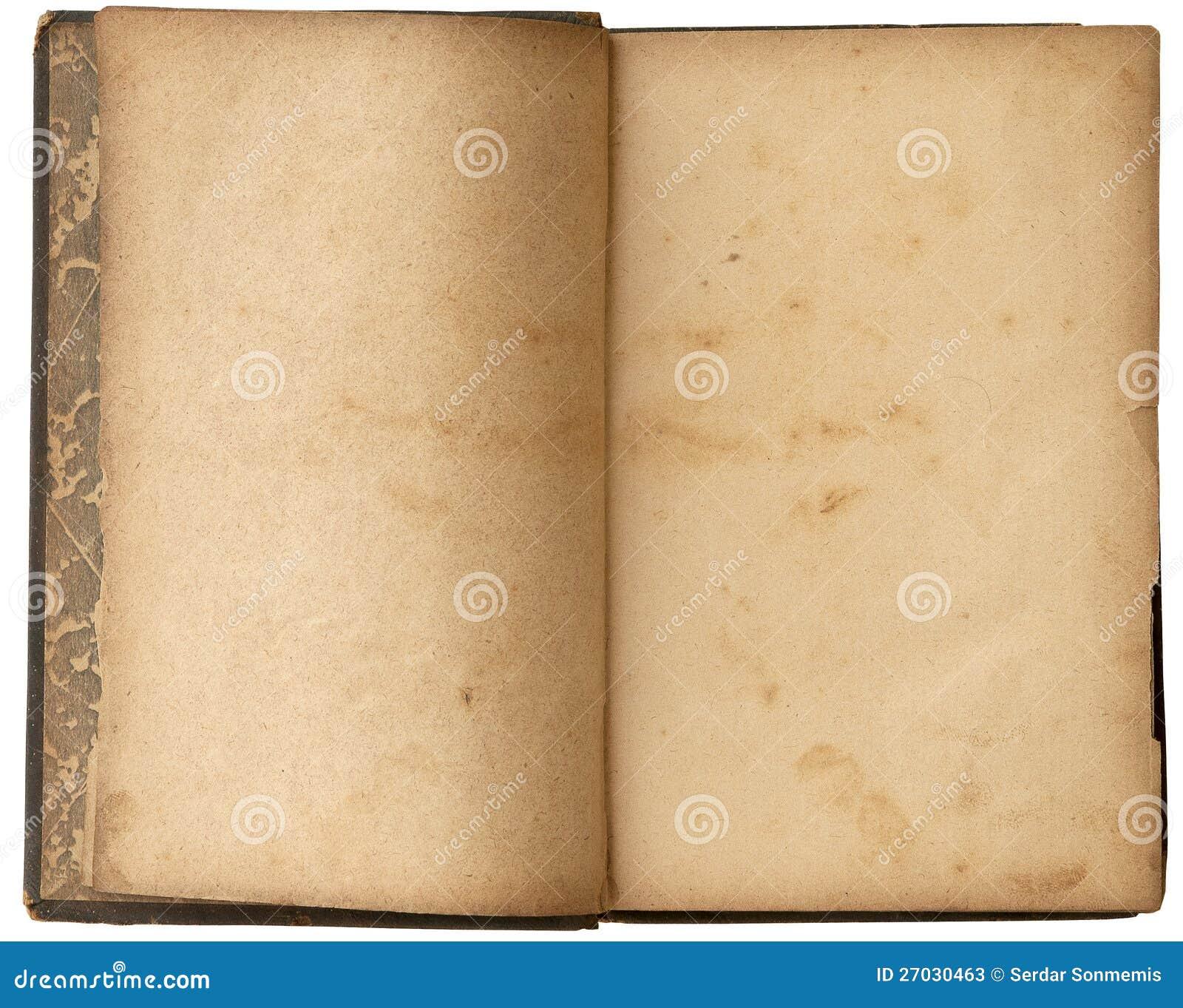 Libro aperto del vecchio spazio in bianco fotografie stock for Foto di un libro