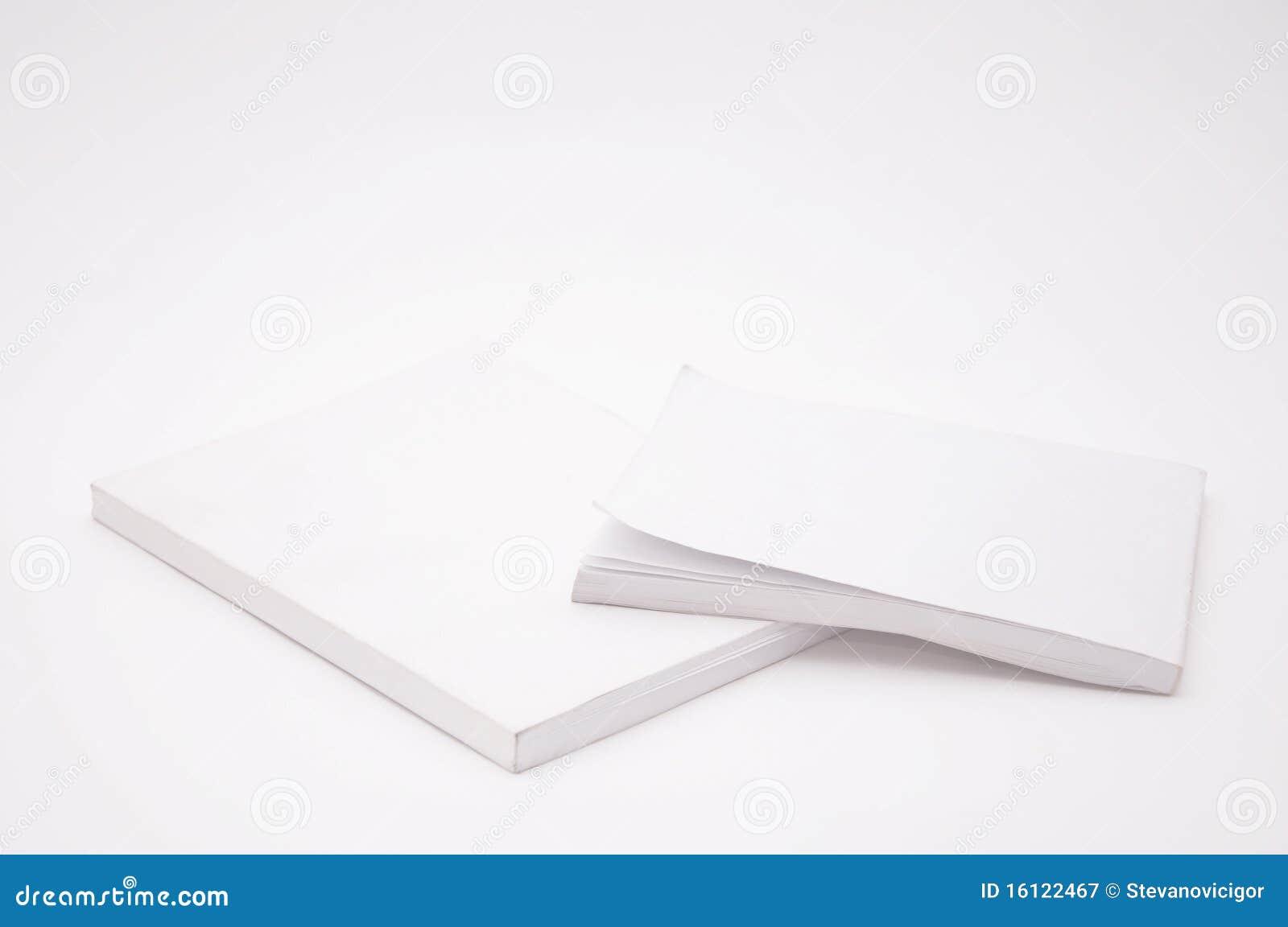 Libro blanco de la cubierta en blanco