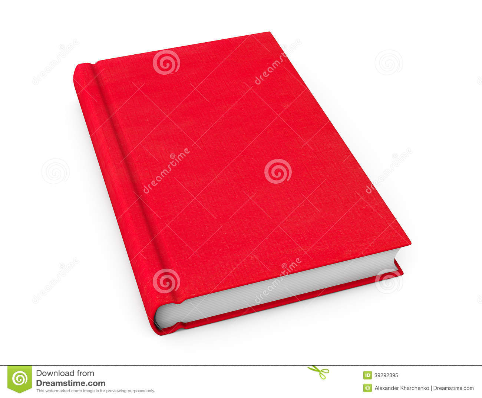 Libro con la cubierta en blanco roja