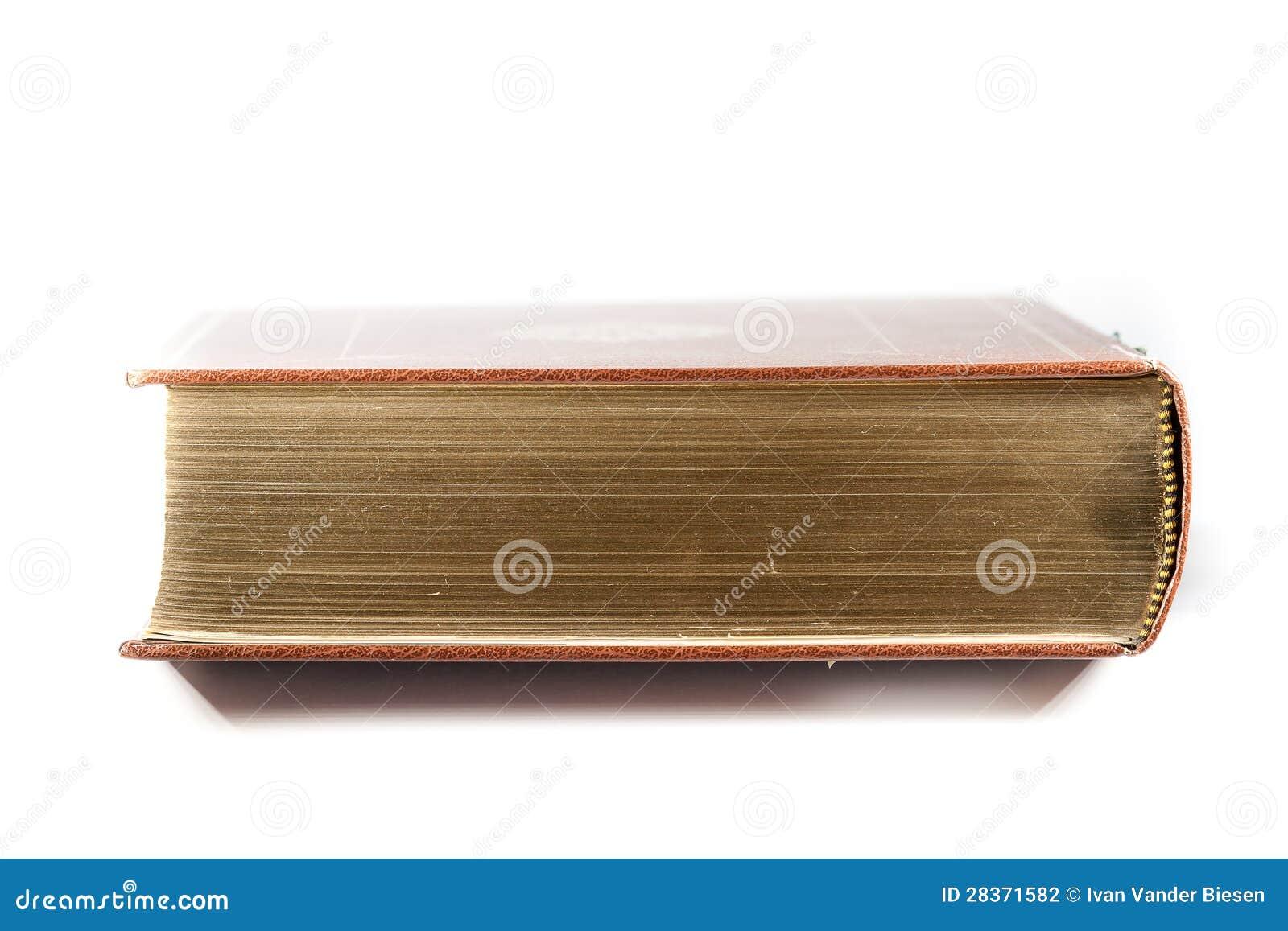 Libro con las paginaciones de oro