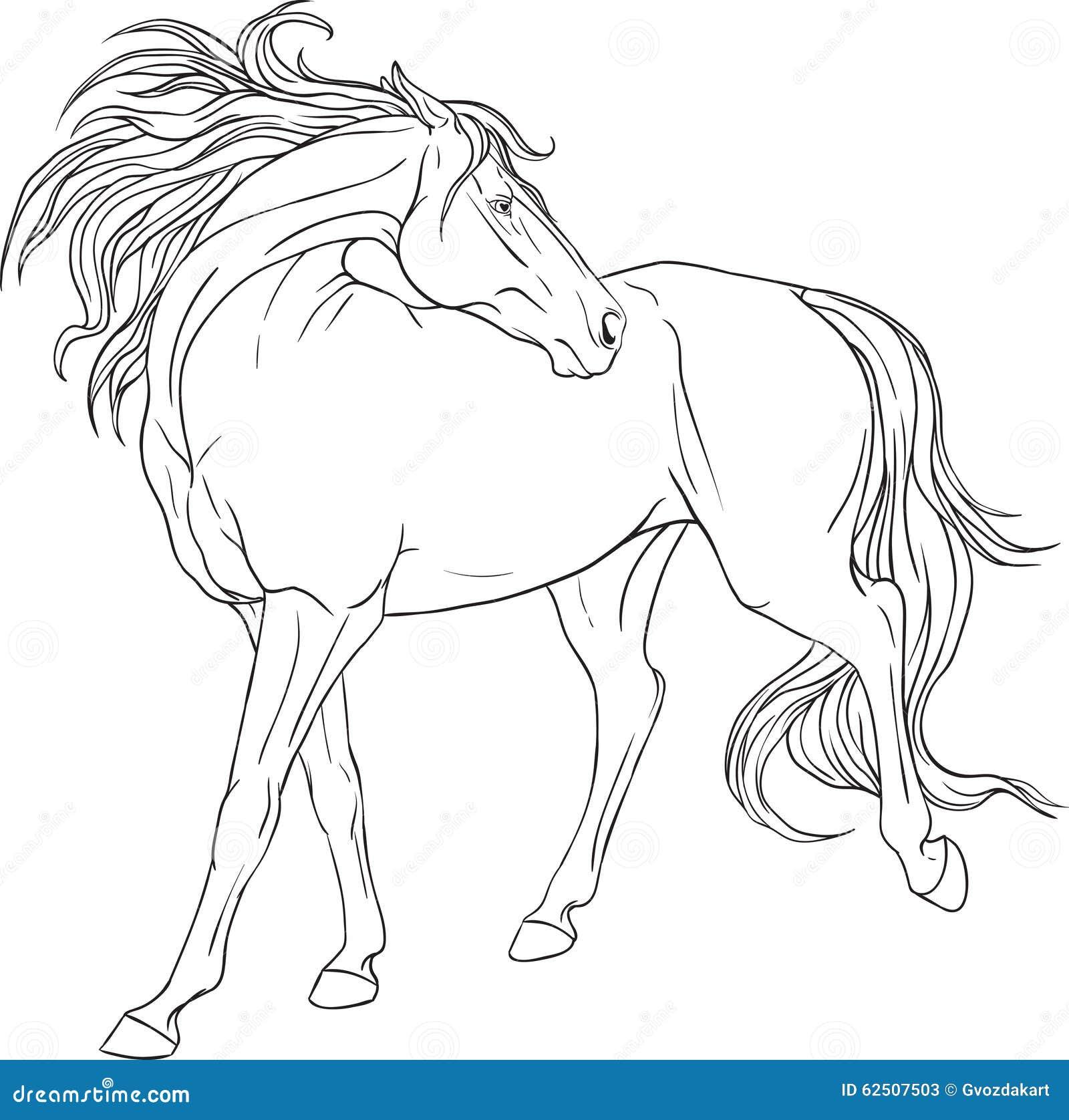 imagens pequenas de cavalos para colorir