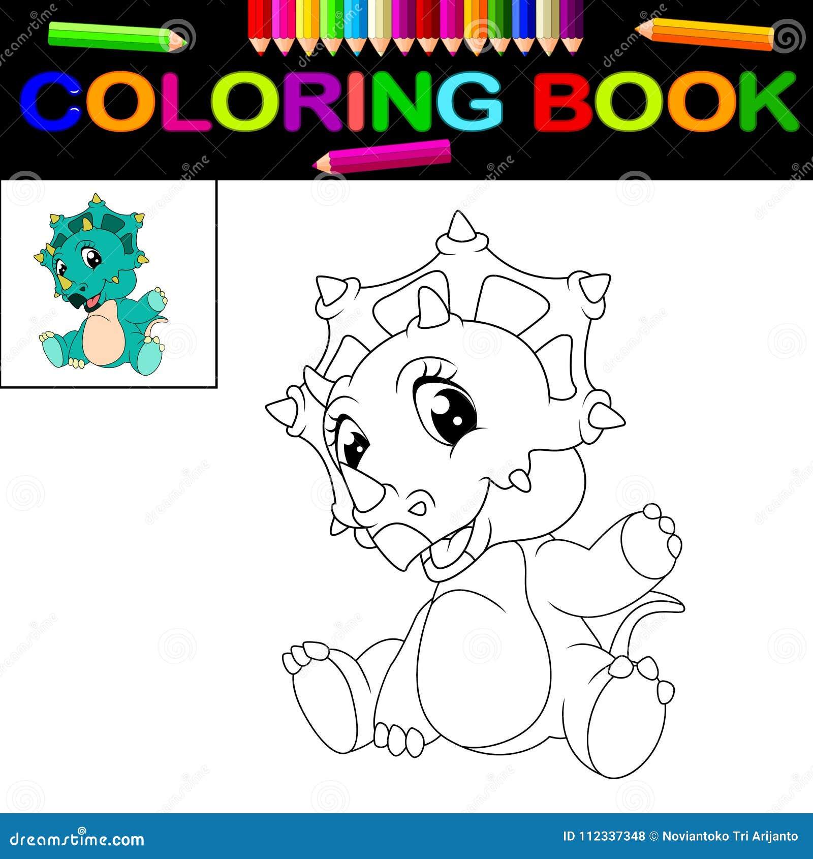 Libro Da Colorare Del Dinosauro Illustrazione Vettoriale