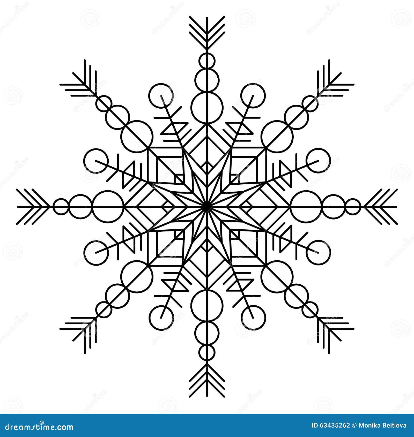 Libro da colorare del fiocco di neve illustrazione for Fiocco di neve da ritagliare
