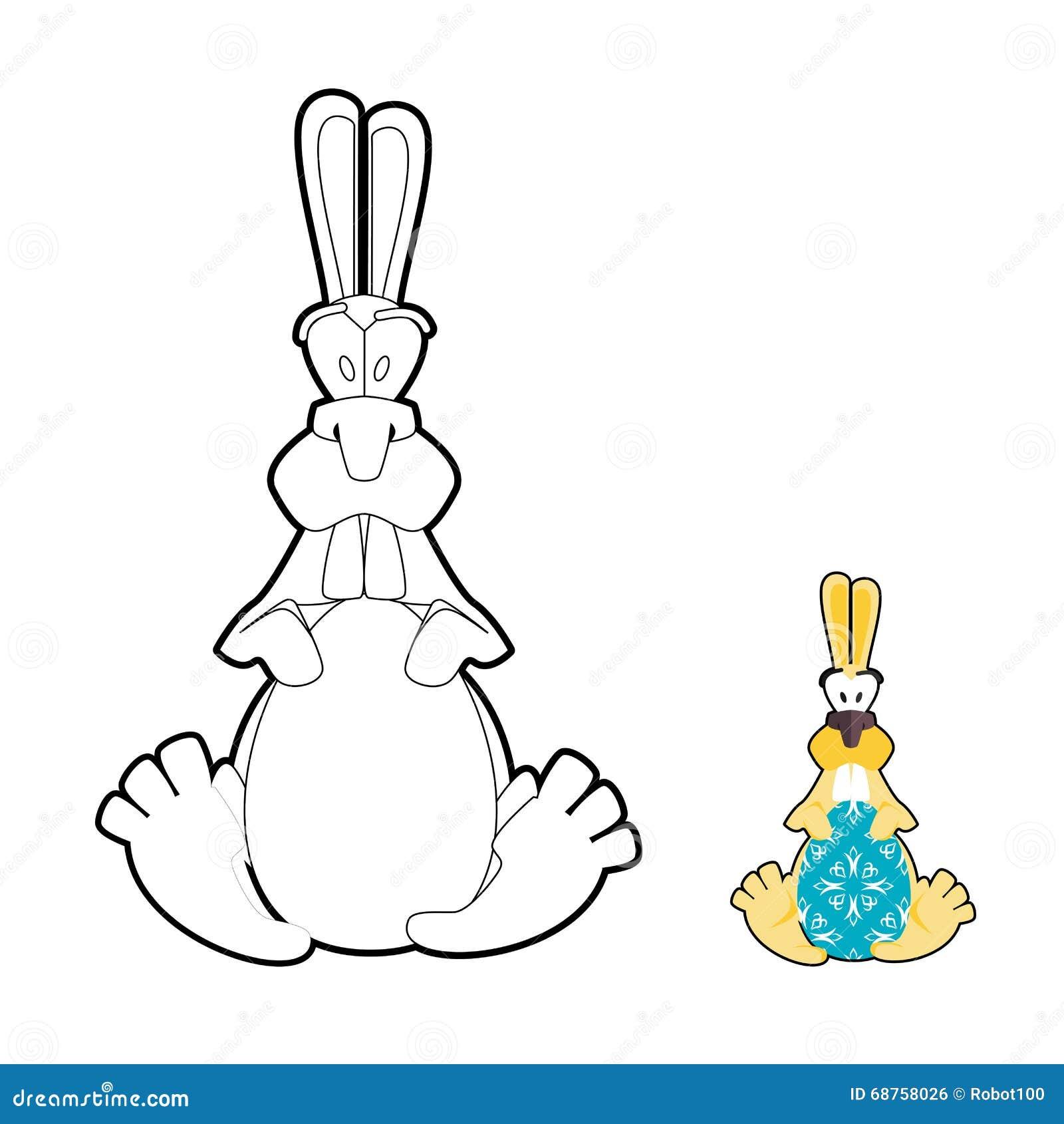 Libro Da Colorare Delluovo Di Pasqua E Del Coniglio Coniglietto Di