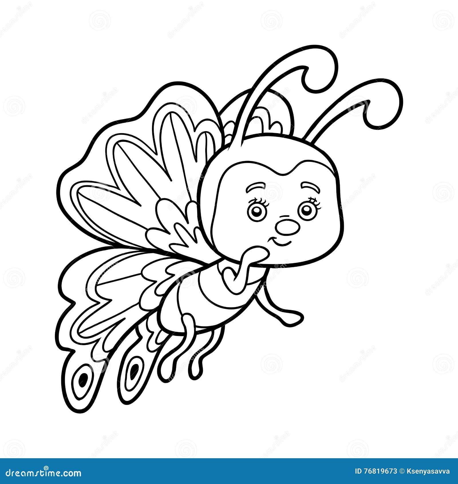 Libro Da Colorare Farfalla Illustrazione Vettoriale