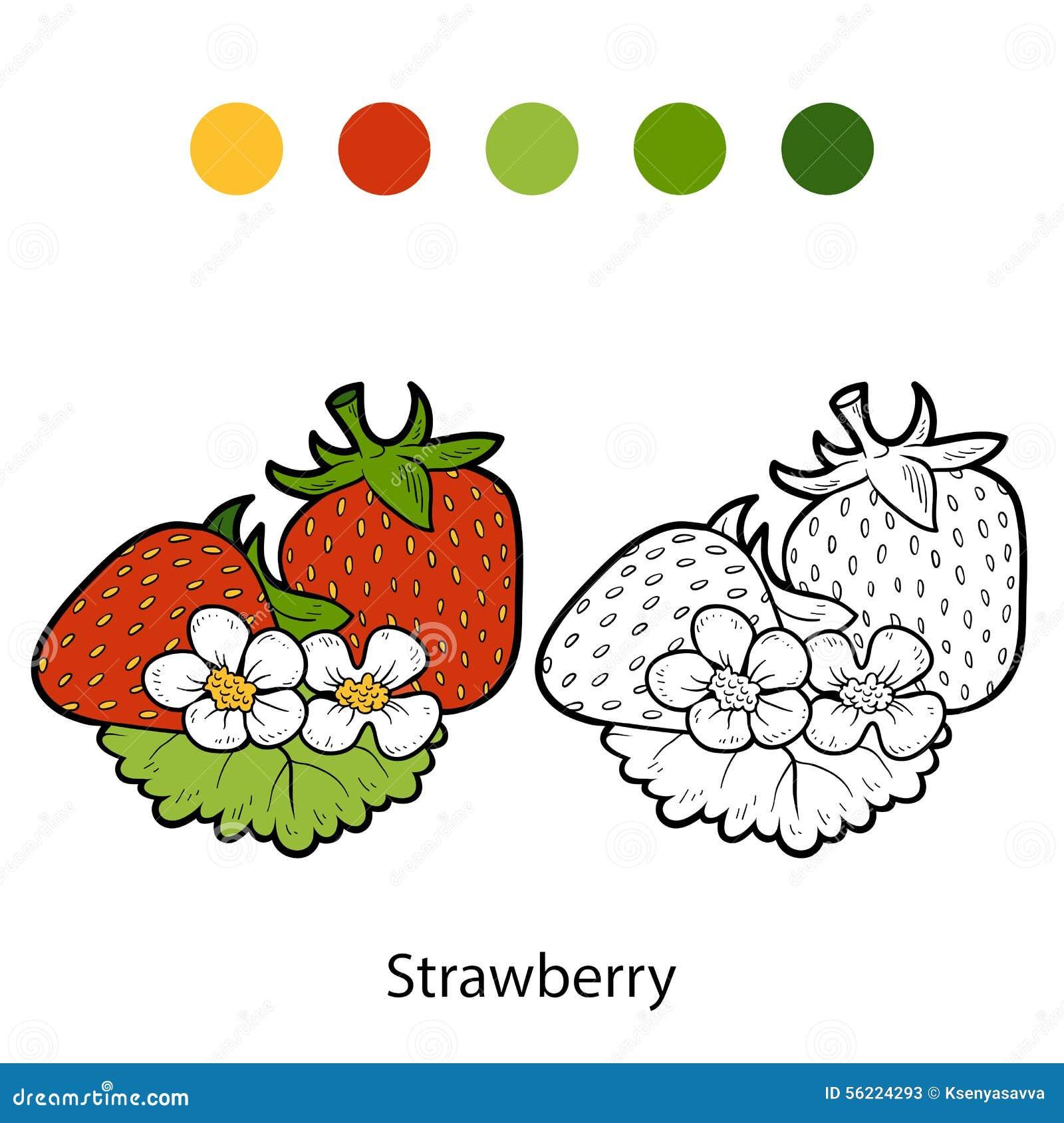 Libro da colorare frutta e verdure fragola - Colorare le pagine di verdure ...