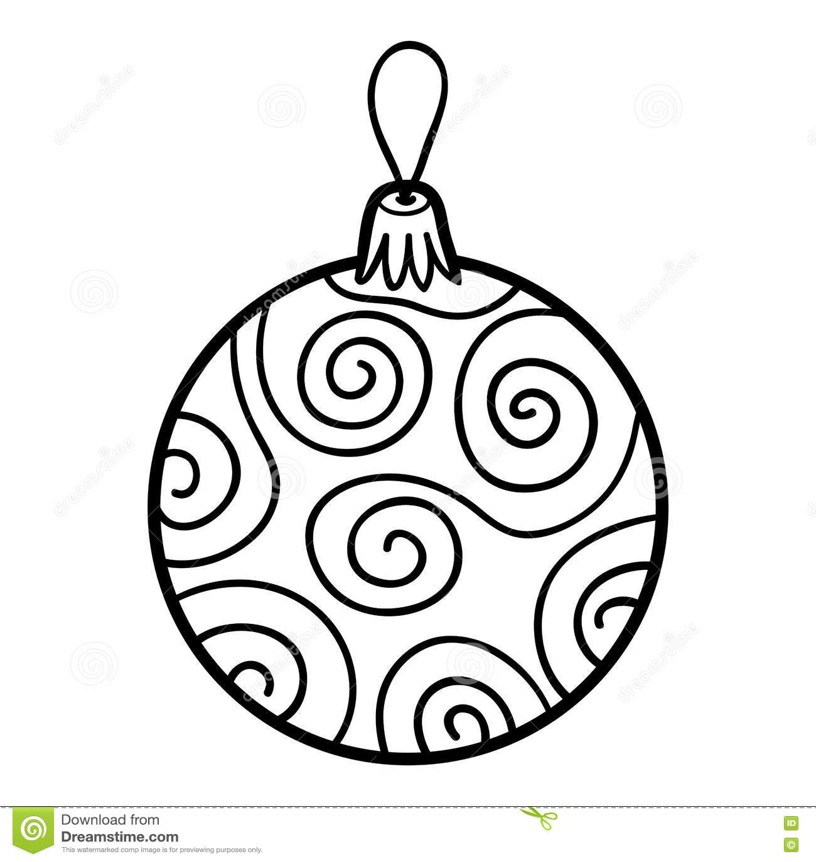 Palle Di Natale Da Colorare Disegno Di Una Palla Dellualbero Di