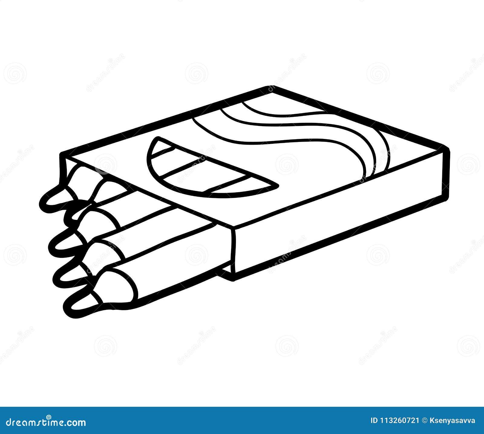 Libro Da Colorare Matite Di Colore Illustrazione Vettoriale Illustrazione Di Coloring Libro 113260721