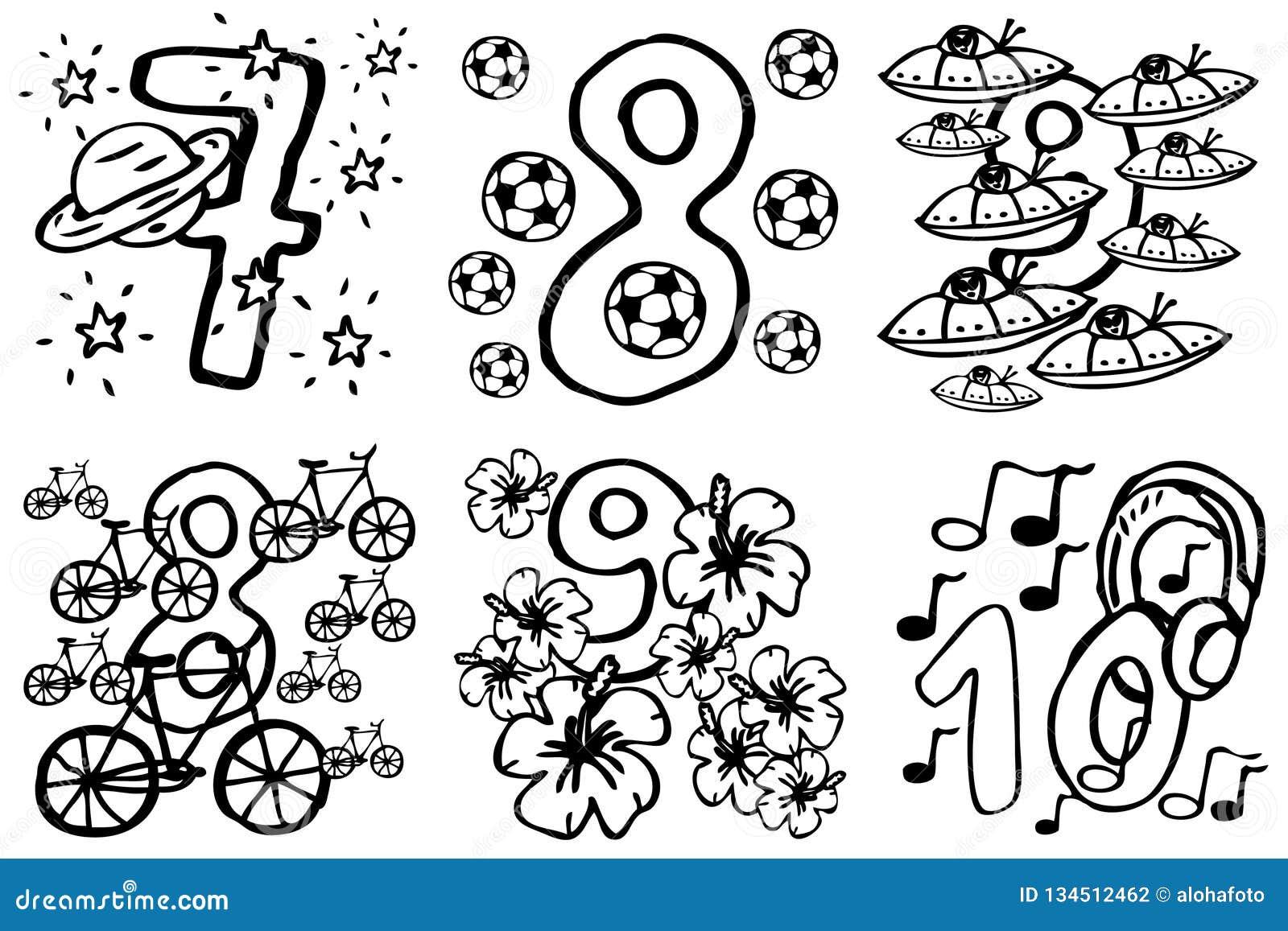 Libro Da Colorare Numeri Di Buon Compleanno Per Giocare Ed