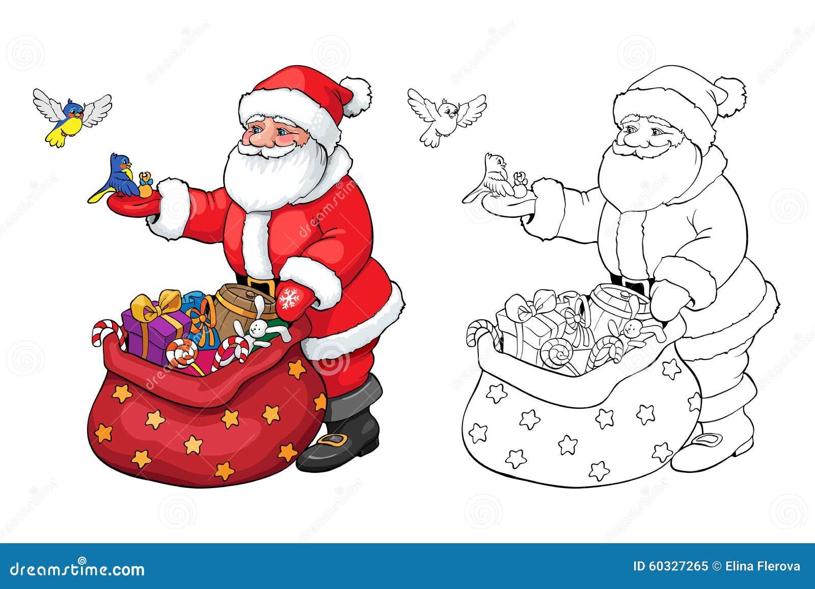 Libro da colorare o pagina il babbo natale con i regali di - Phoenix pagina da colorare ...