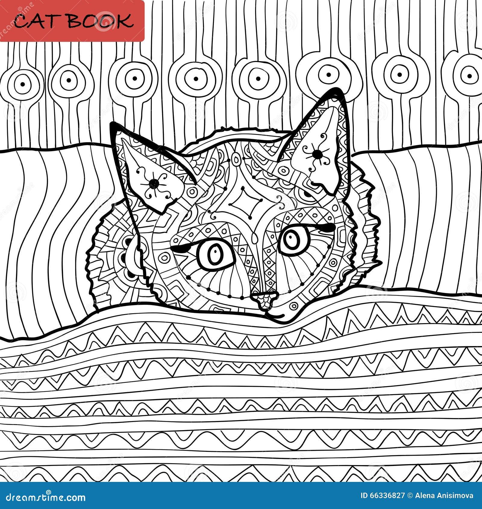 Libro da colorare per gli adulti libro del gatto dello - Libro da colorare elefante libro ...