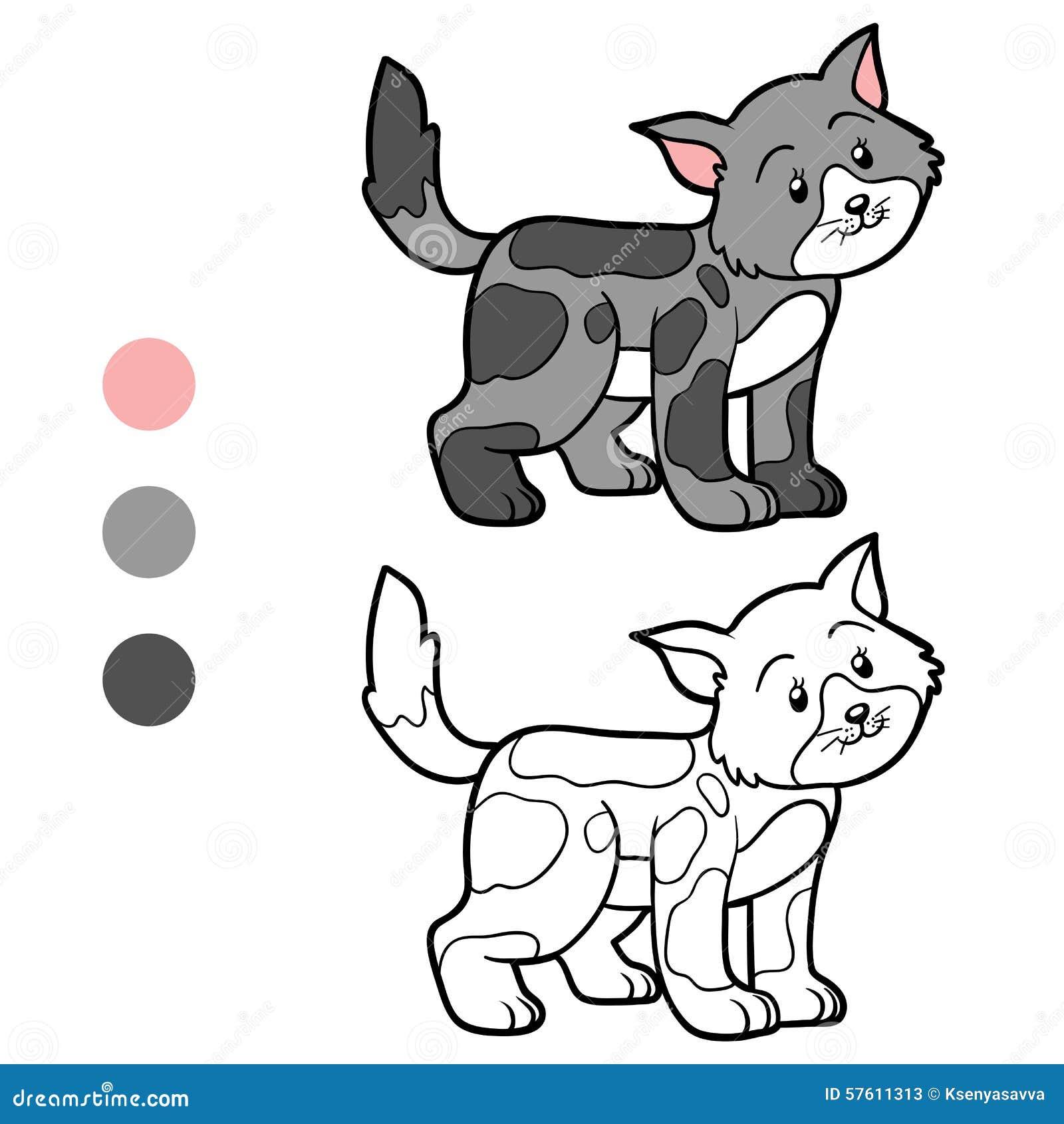 Libro Da Colorare Per I Bambini Gatto Macchiato