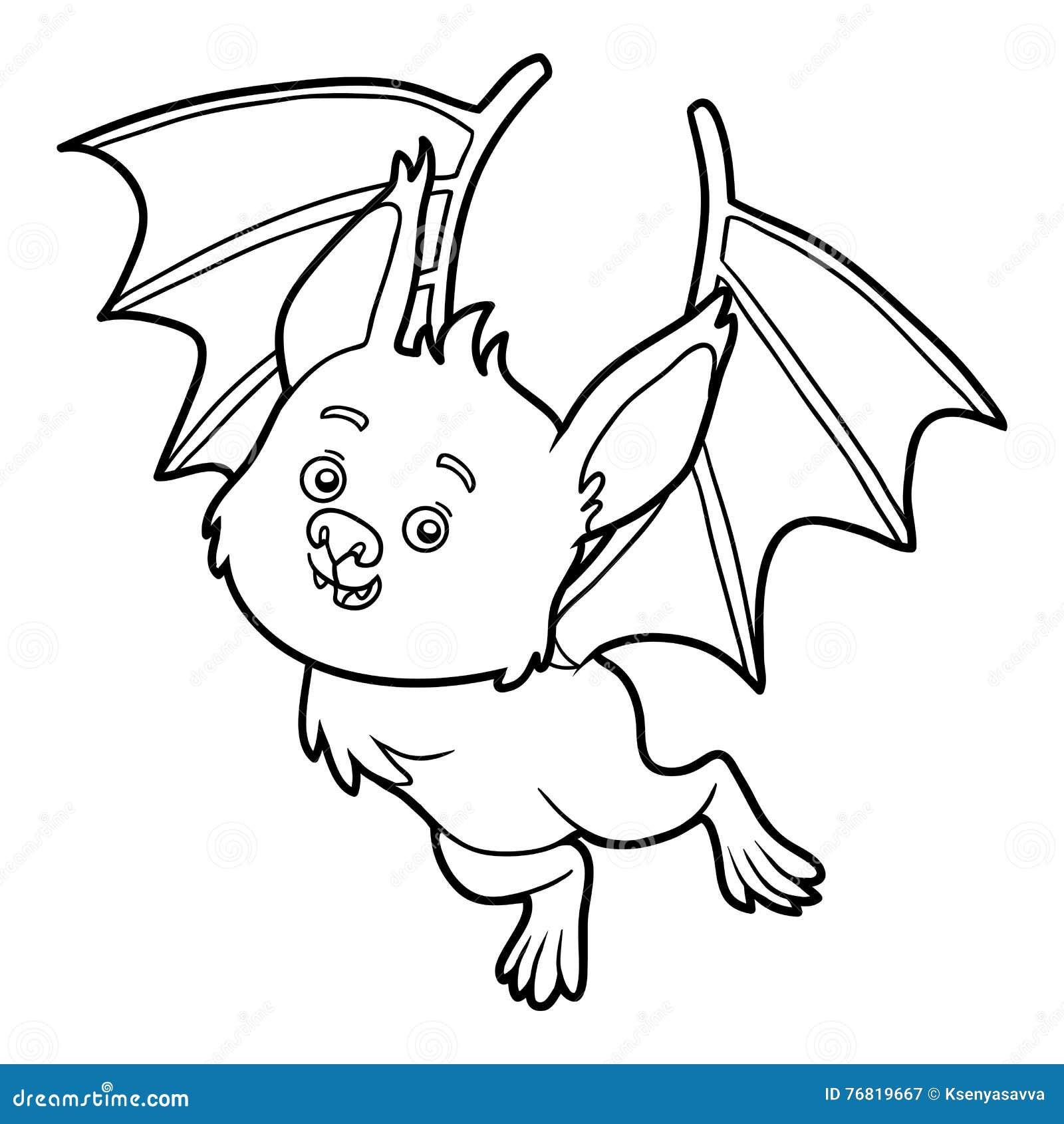 Libro Da Colorare Pipistrello Illustrazione Vettoriale Illustrazione Di Nave Notte 76819667