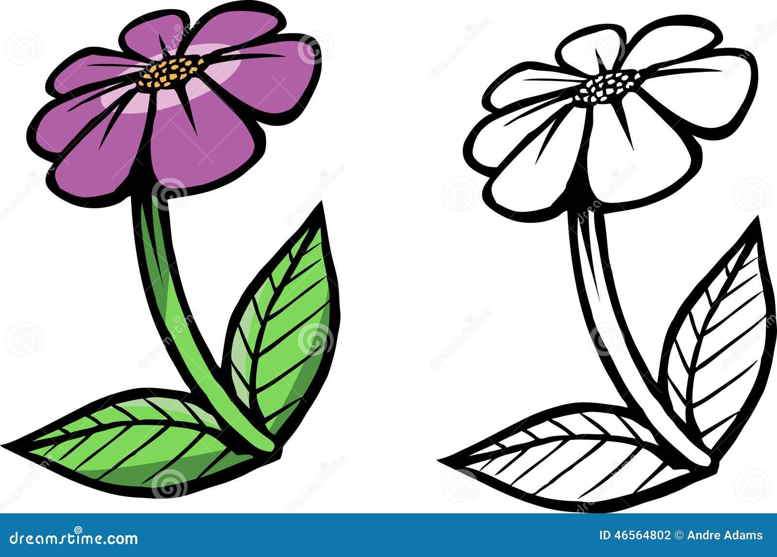 Libro da colorare porpora del fiore illustrazione di stock - Libri da colorare di fiori ...
