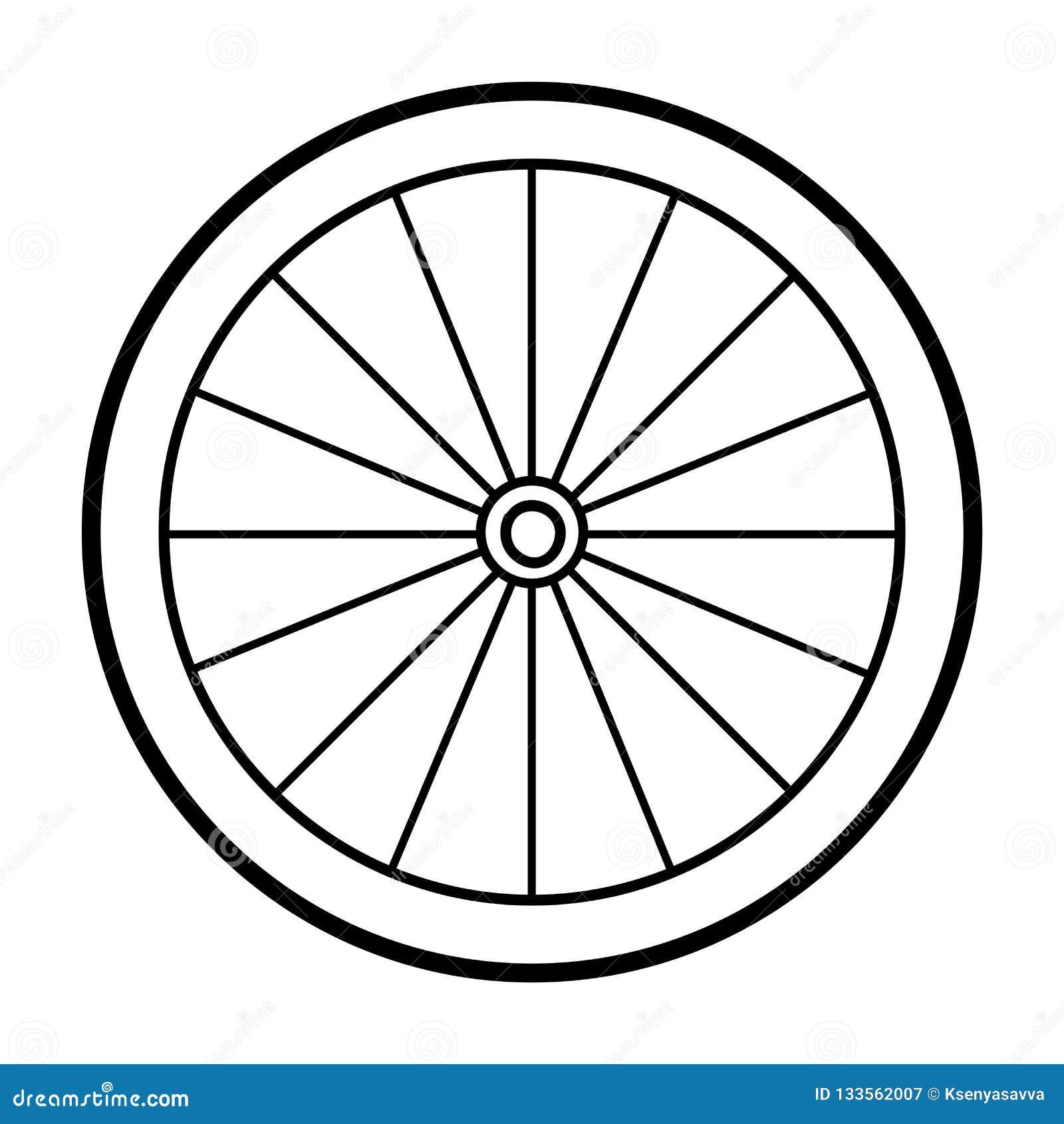 Libro Da Colorare Ruota Di Bicicletta Illustrazione Vettoriale