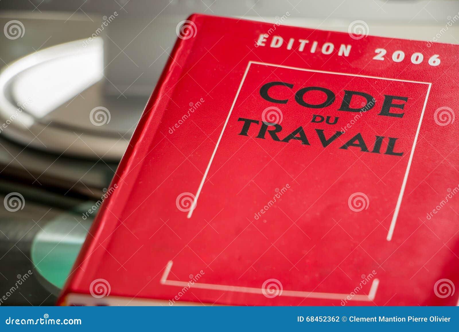 Libro de código de trabajo del francés