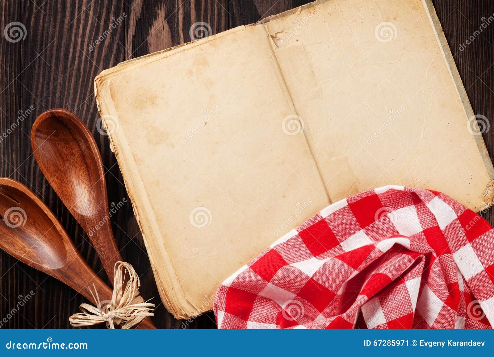 Libro de cocina y utensilios de la receta del vintage for Utensilios de cocina vintage