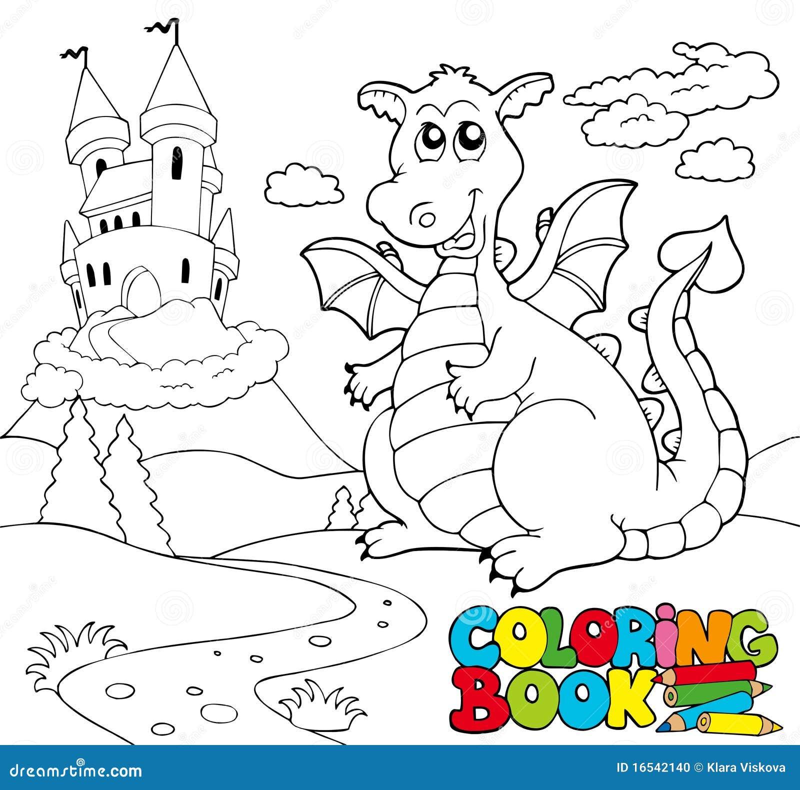 Libro de colorante con el dragón grande 2