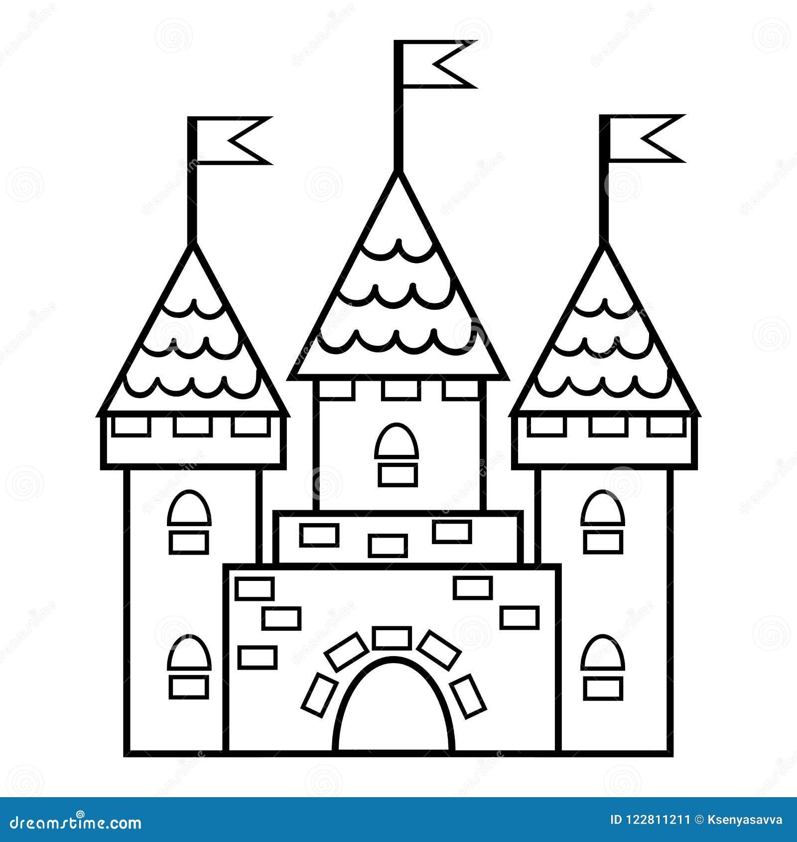 Libro de colorear, castillo